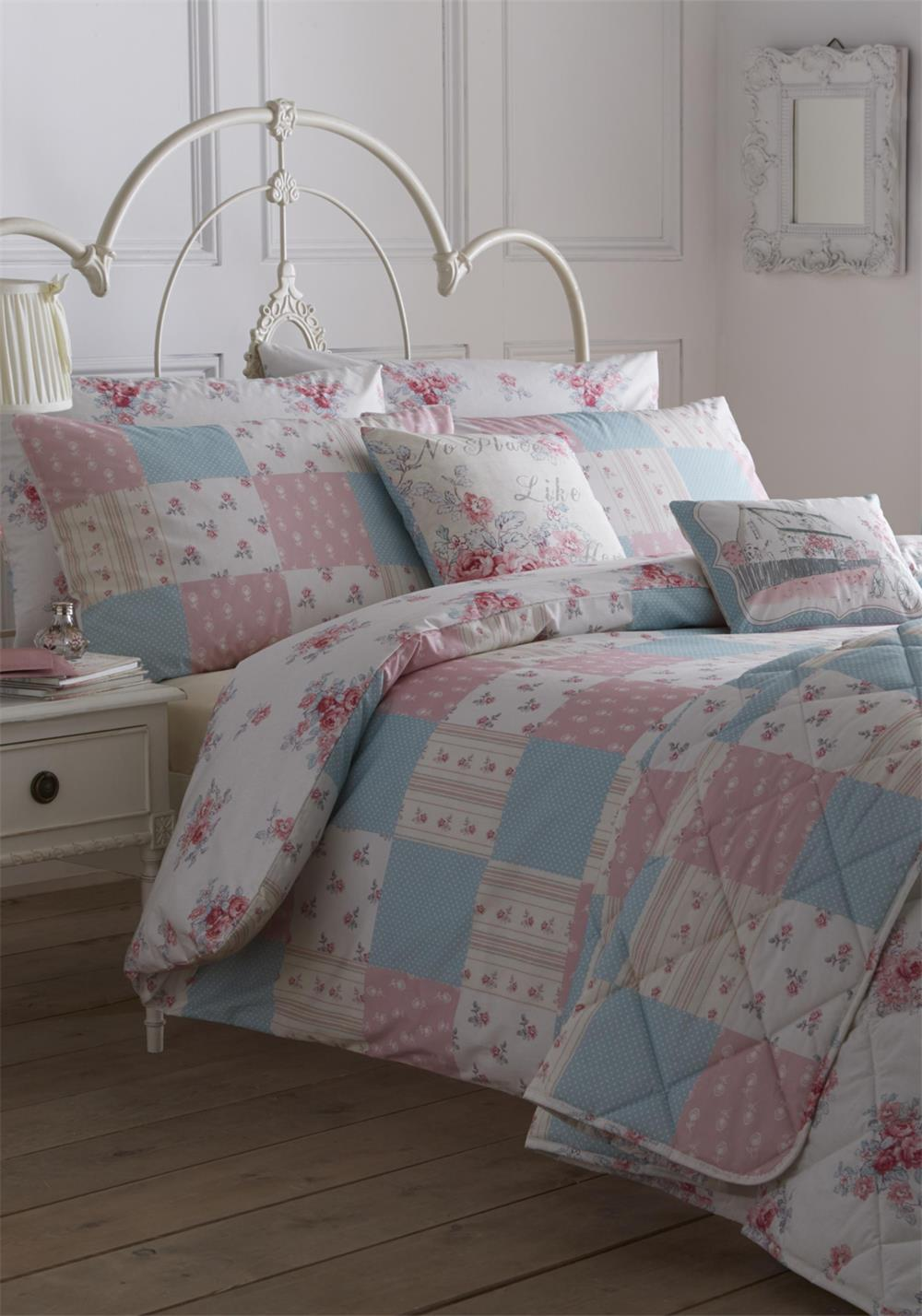 Dreams & Drapes Patsy Rose Reversible Duvet Cover Set, Pink