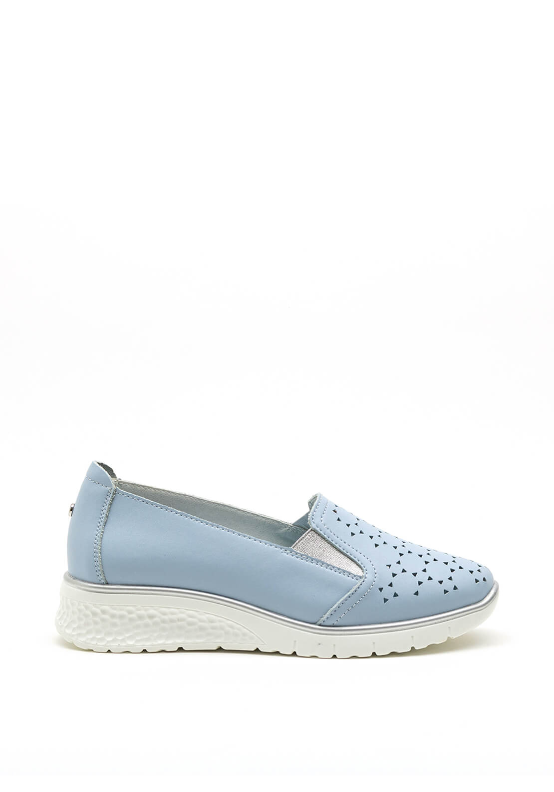 Zanni & Co. Perforated Detail Wedge Shoe, Blue