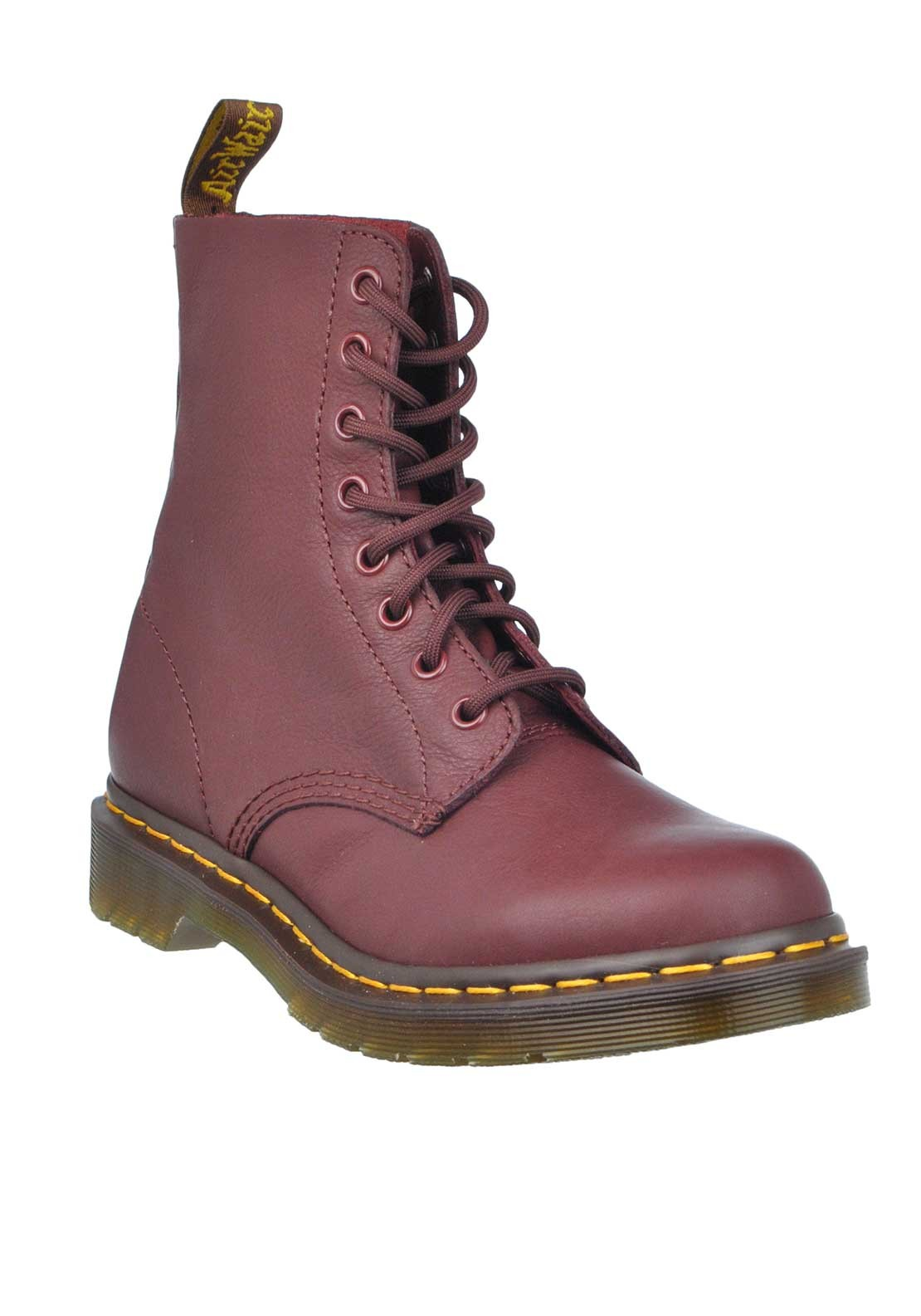 Dr. Martens Womens Pascal Leather Boots, Cherry