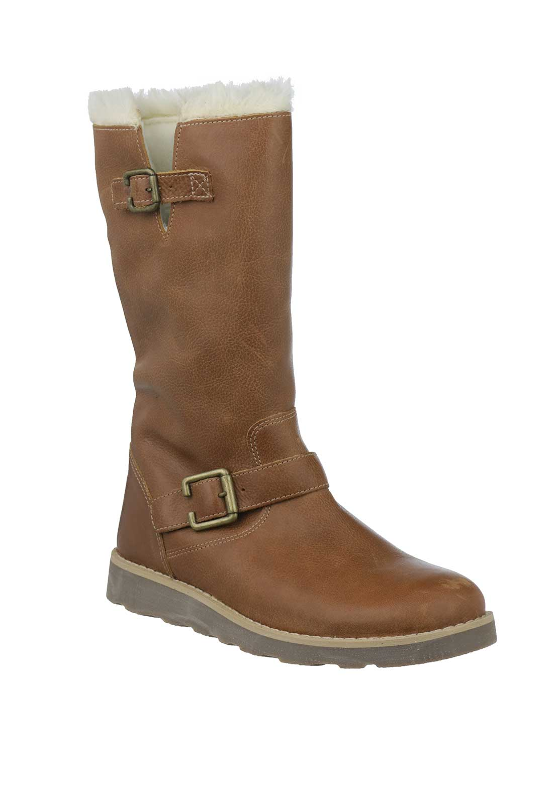 Dubarry Girls Talaya Leather Boots, Tan