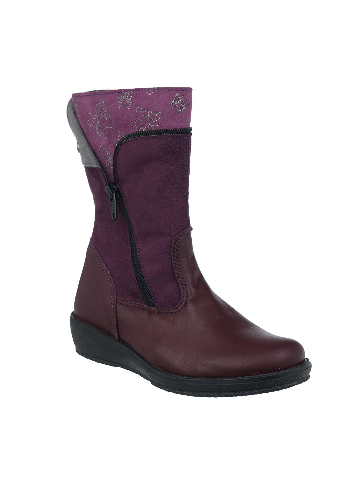 Dubarry Girls Tillie Leather Boots, Purple