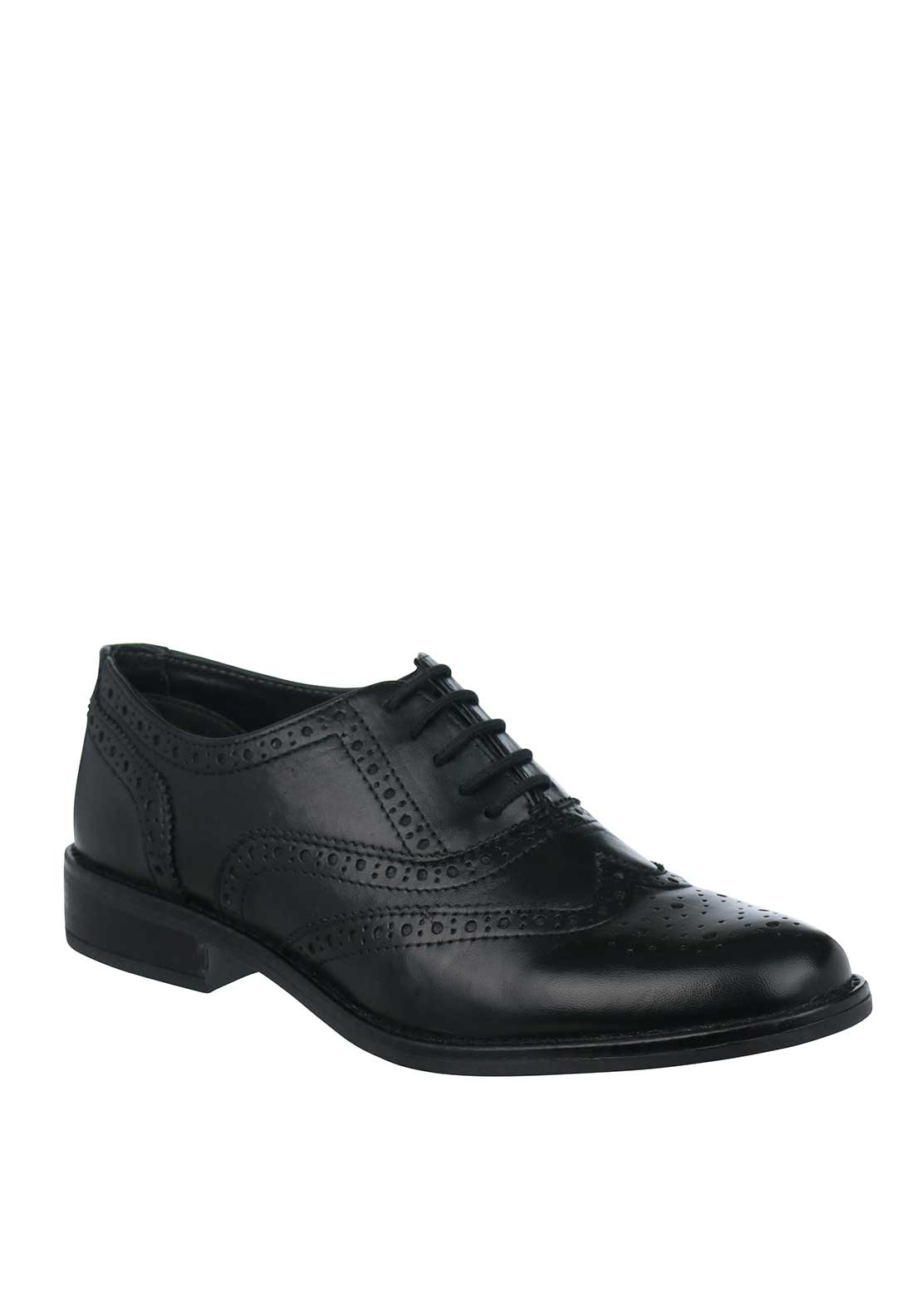 Dubarry Womens Hough Leather Brogues, Black