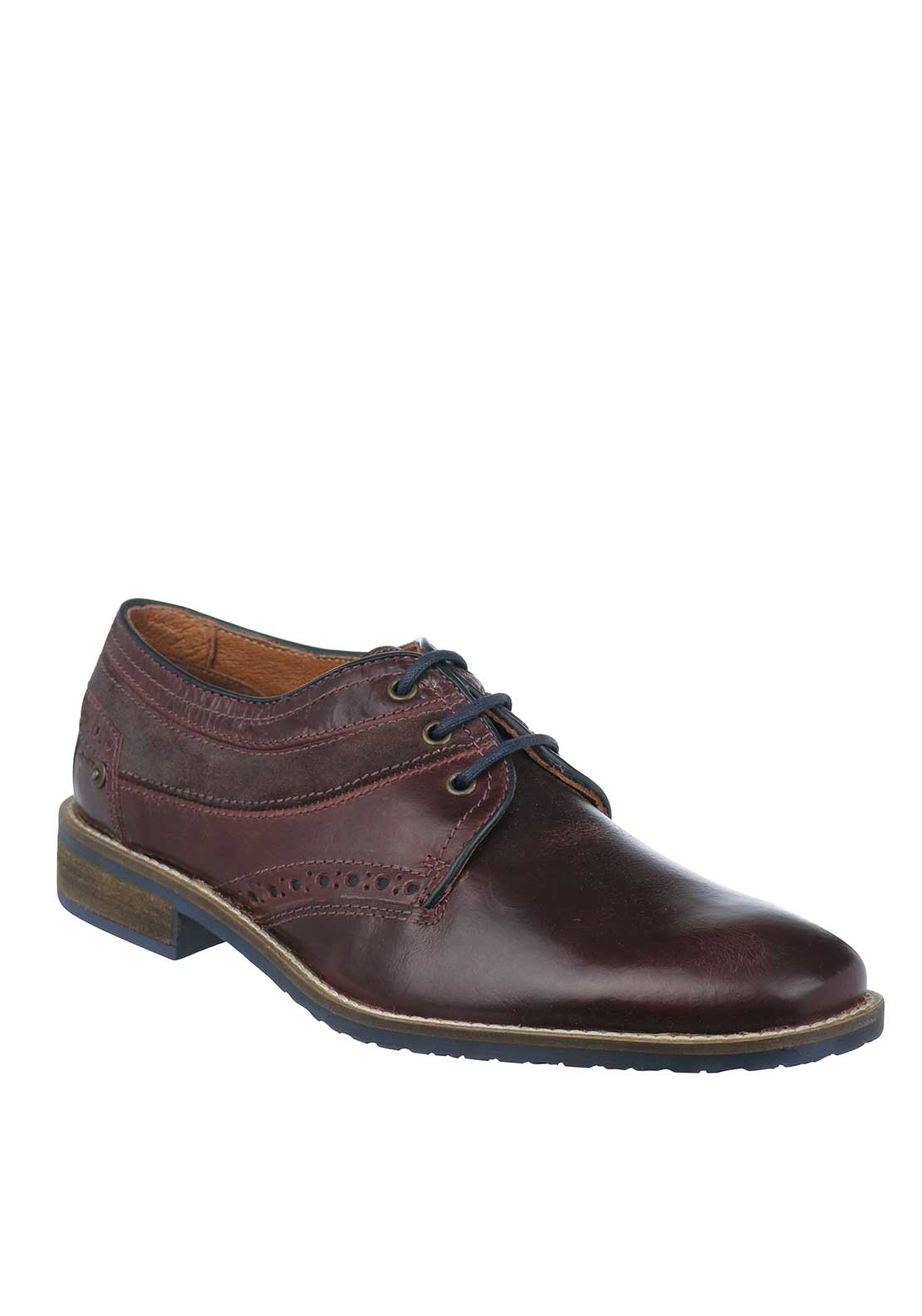 Dubarry Mens Simba Lace-Up Leather Shoe, Burgundy
