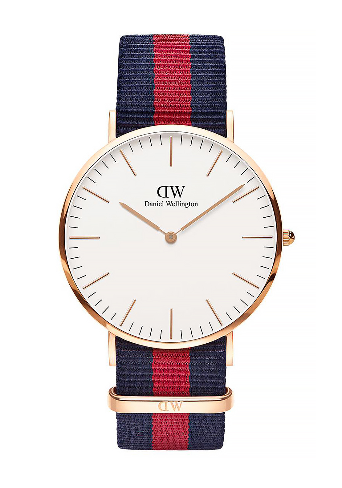 Daniel Wellington Classic Oxford Watch 40mm Rose Gold, Navy & Red