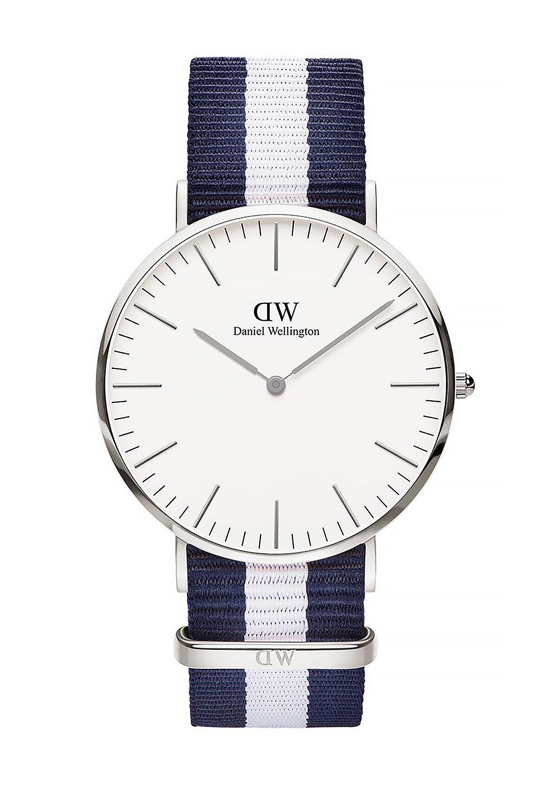 Daniel Wellington Classic Glasgow Watch 40mm Silver, Navy & White
