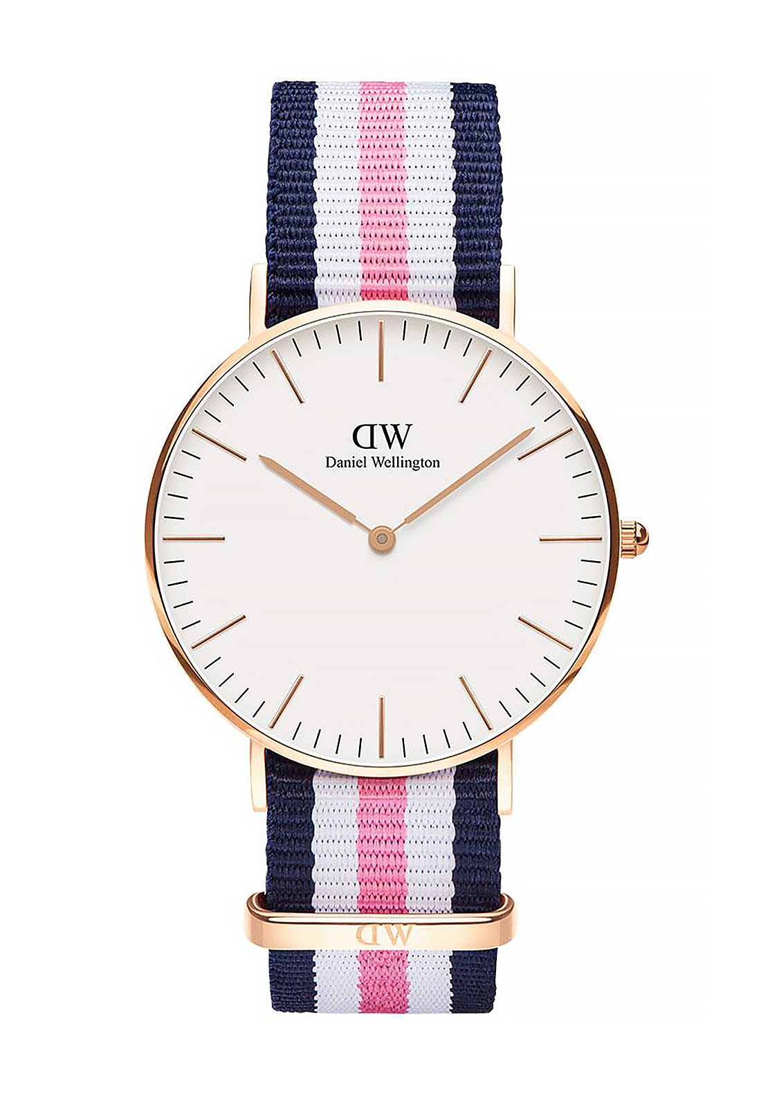 Daniel Wellington Classic Southampton Watch 36mm Rose Gold, Pink & Navy
