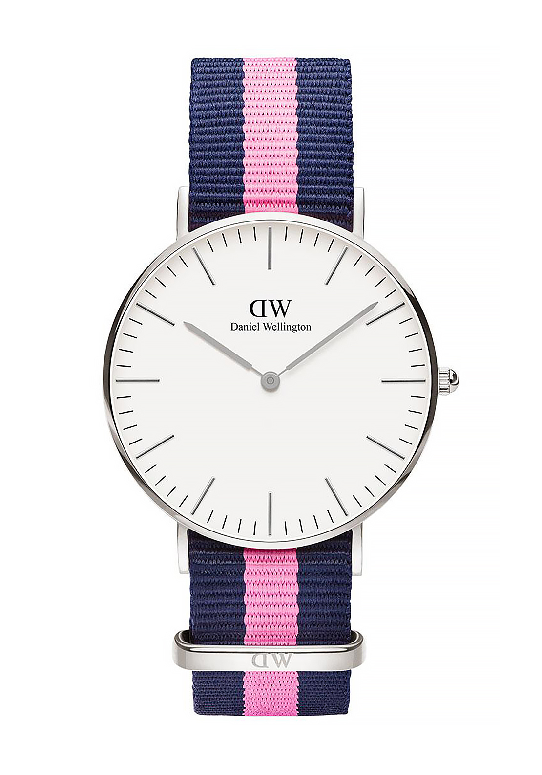 Daniel Wellington Classic Winchester Watch 36mm Silver, Pink & Navy