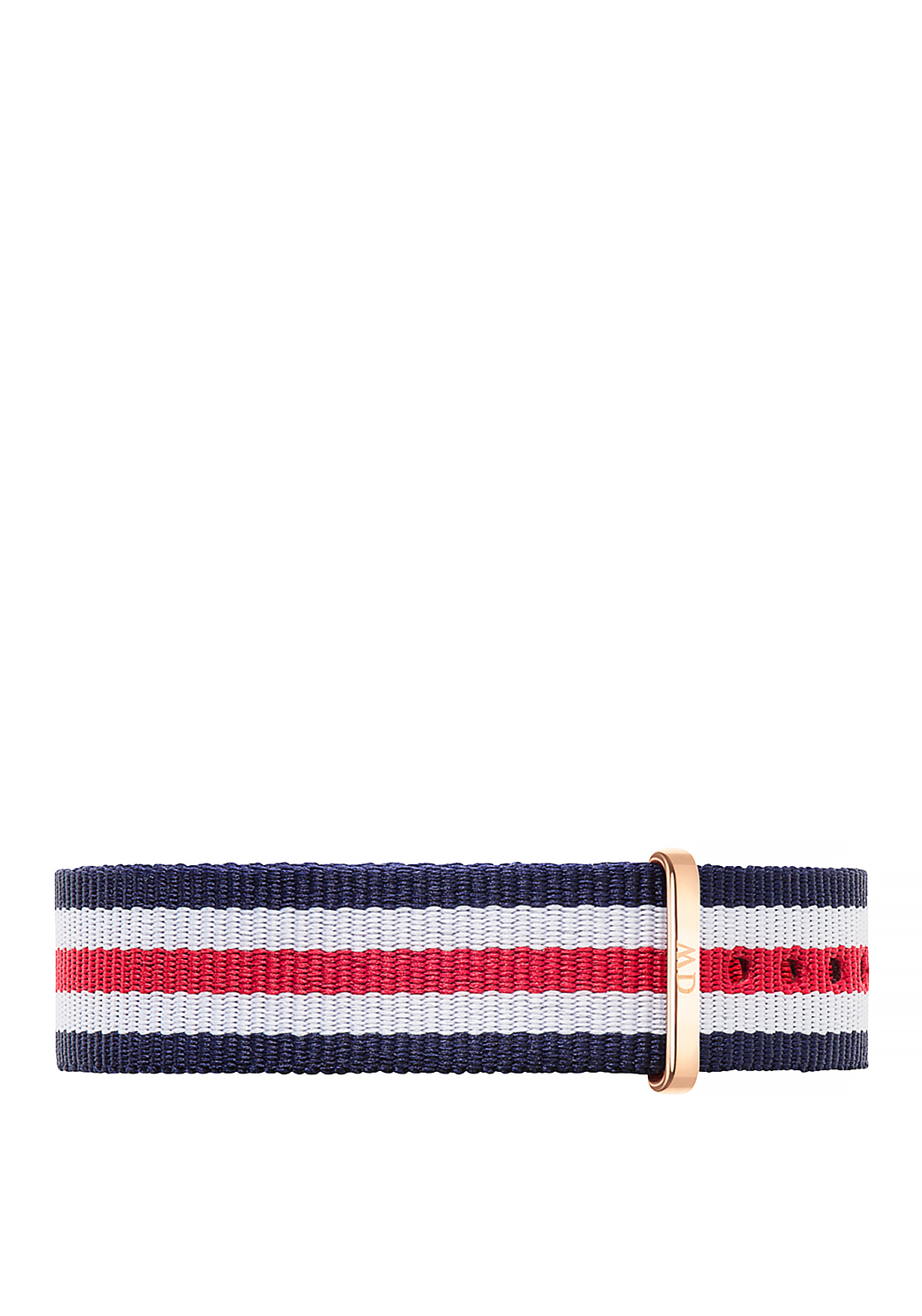 Daniel Wellington Classic Canterbury Wristband Strap 18mm Silver, Red White & Navy