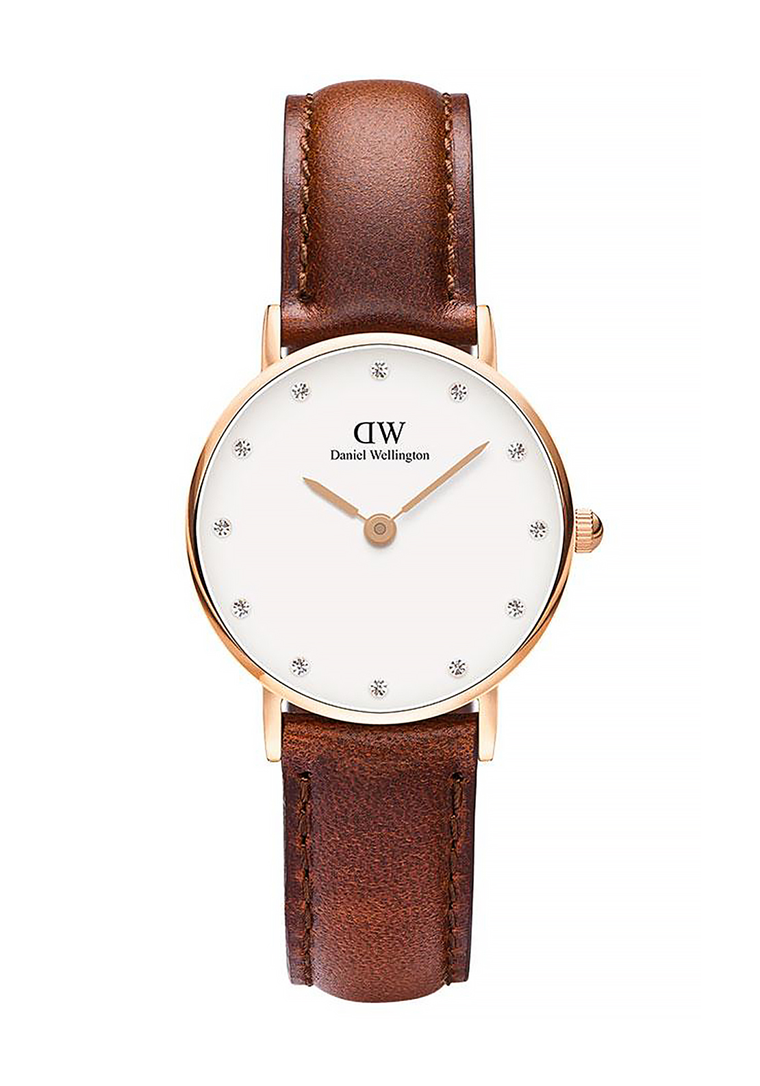 Daniel Wellington Classy St Mawes Watch 26mm Rose Gold, Brown
