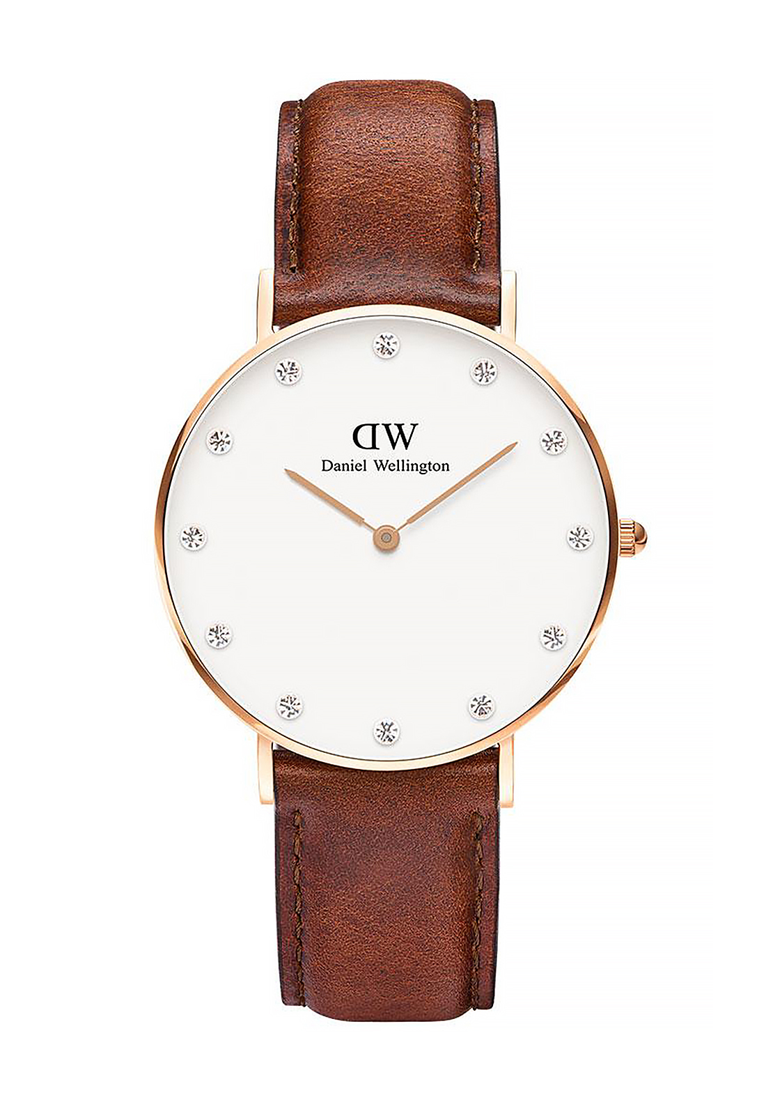 Daniel Wellington Classy St Mawes Watch 34mm Rose Gold, Brown