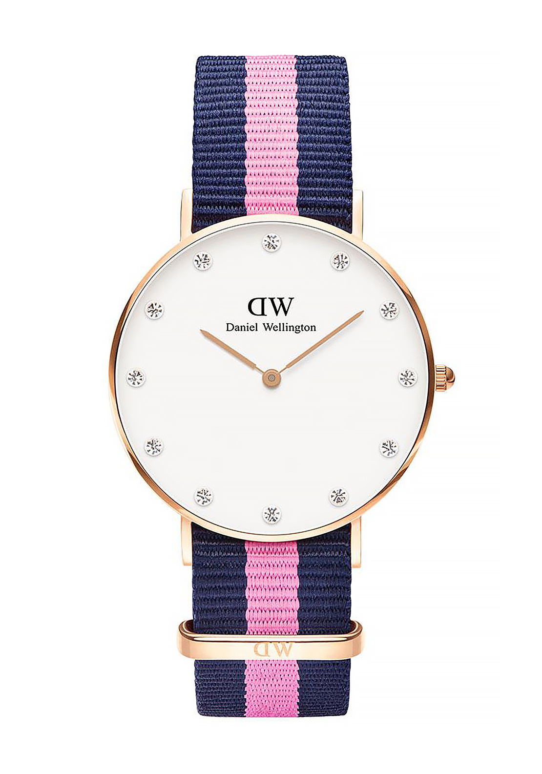 Daniel Wellington Classy Winchester Watch 34mm, Pink & Navy