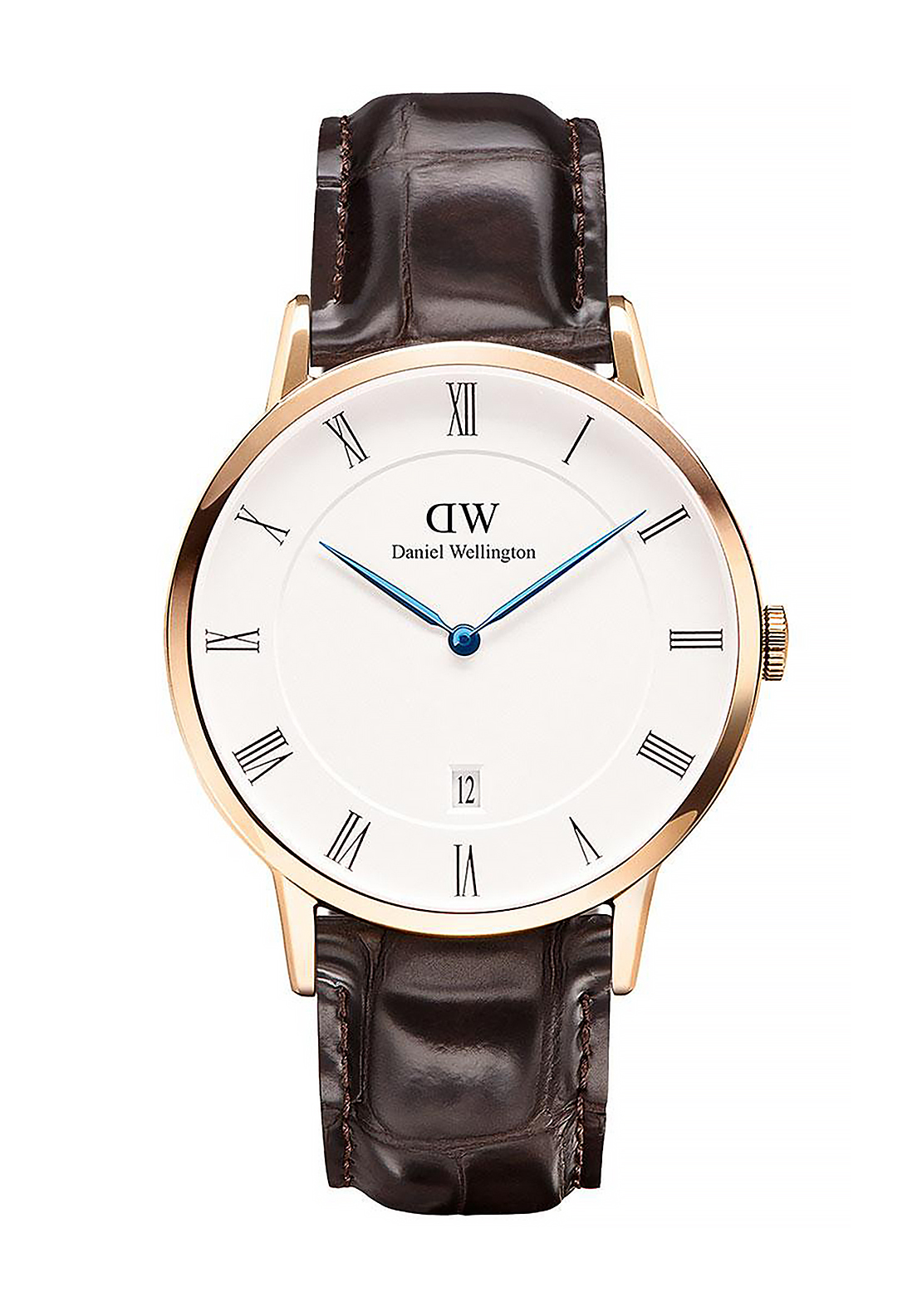 Daniel Wellington Dapper St Mawes Watch 38mm Rose Gold, Brown