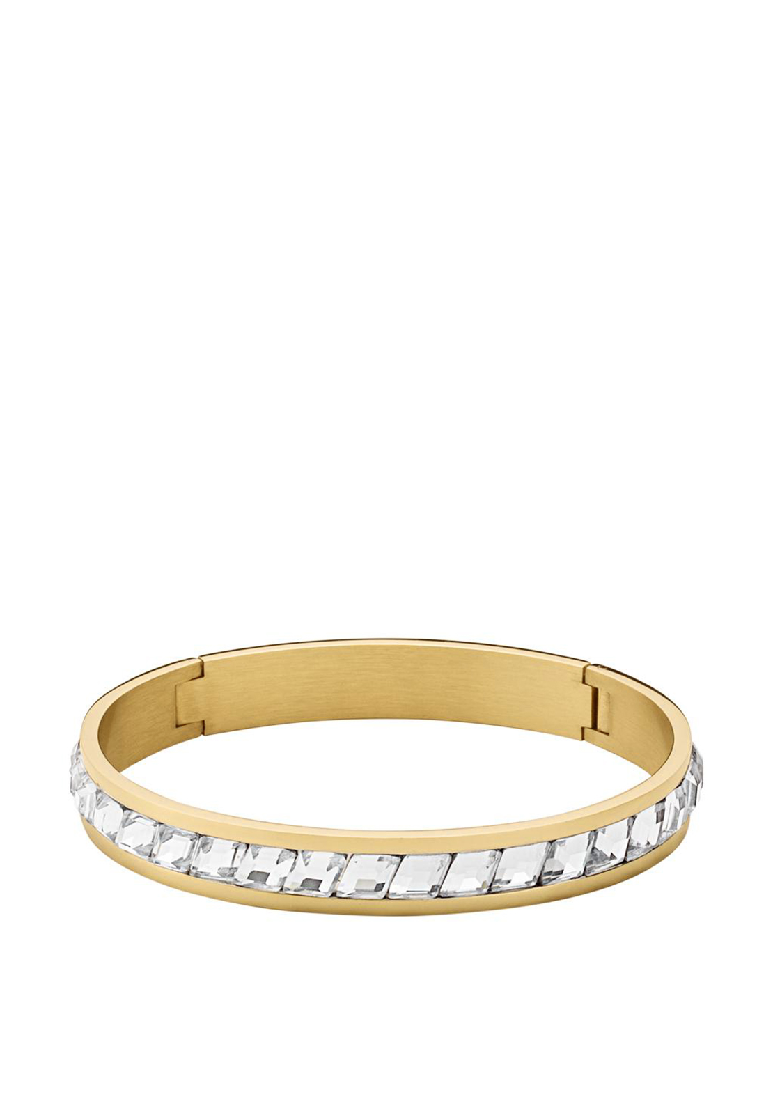Dyrberg Kern Aden || Crystal Bangle, Gold
