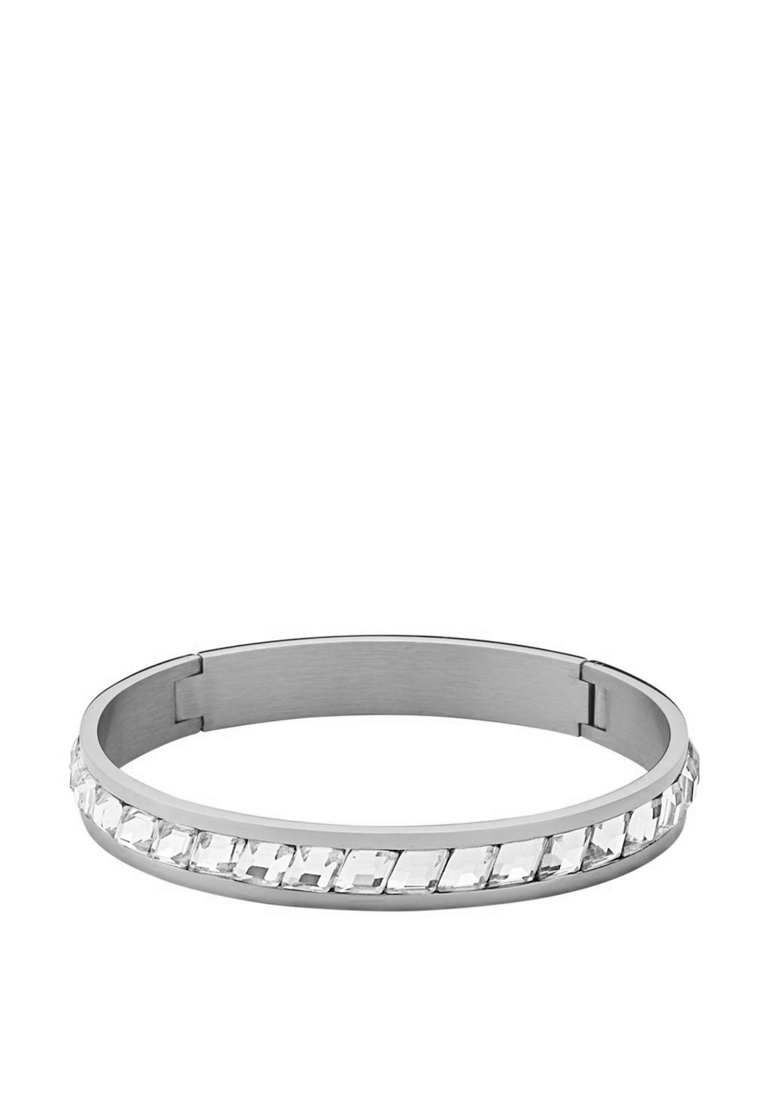 Dyrberg Kern Aden || Crystal Bangle, Silver