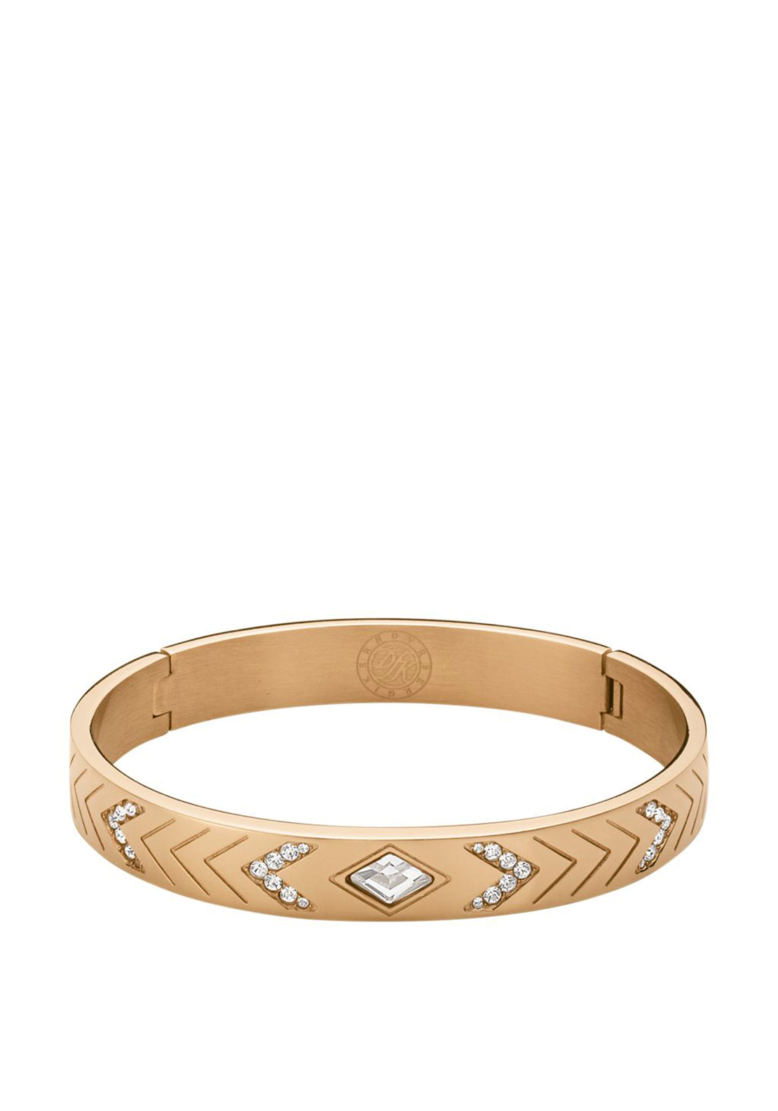 Dyrberg Kern Jessy || Crystal Bangle, Rose Gold