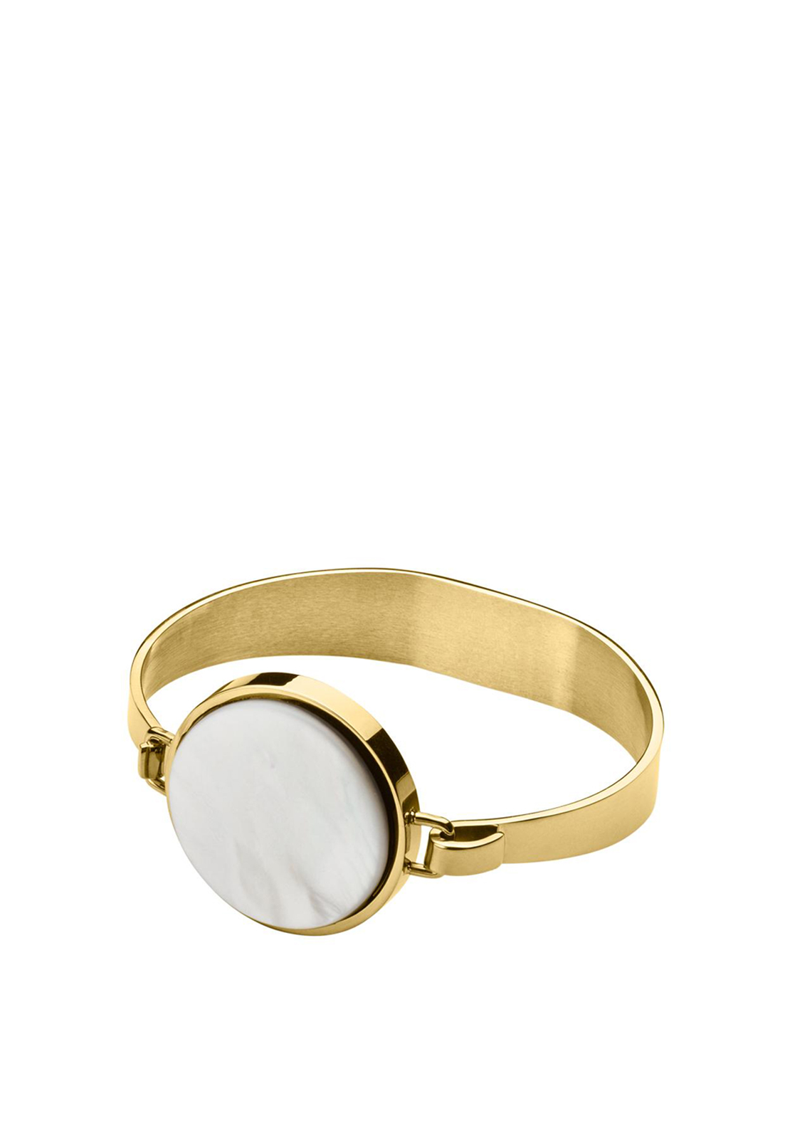 Dyrberg Kern Ronin Bangle, Gold White