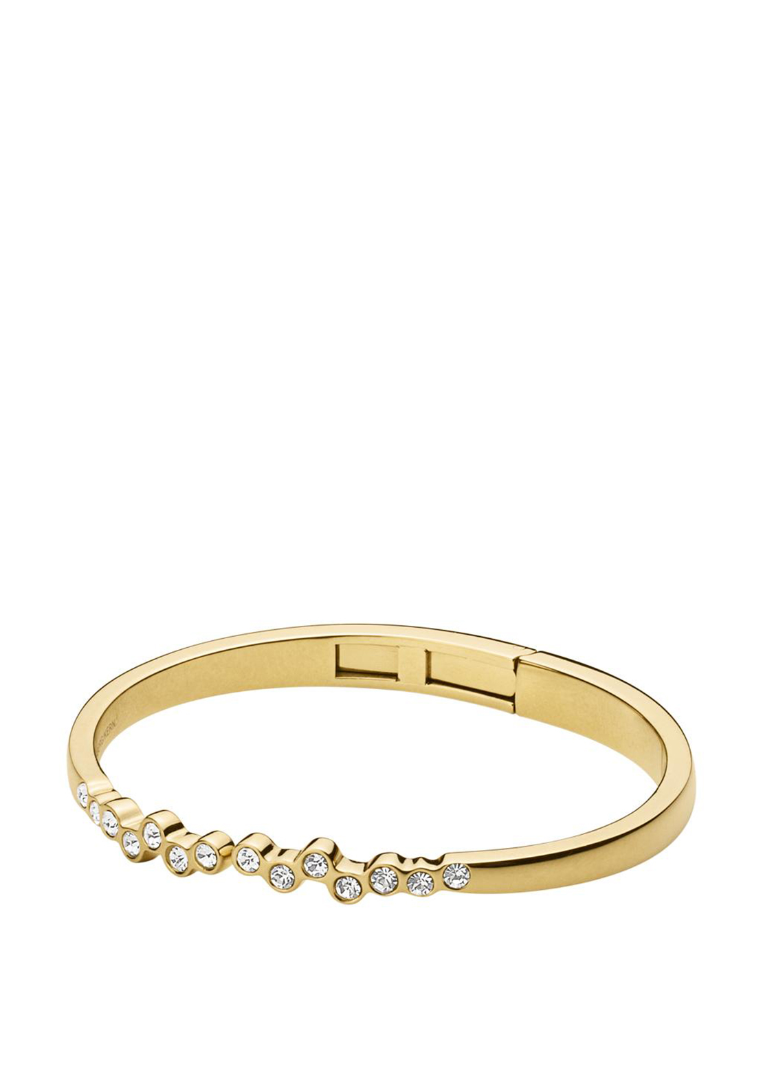Dyrberg Kern Rosa Crystal Bangle, Gold