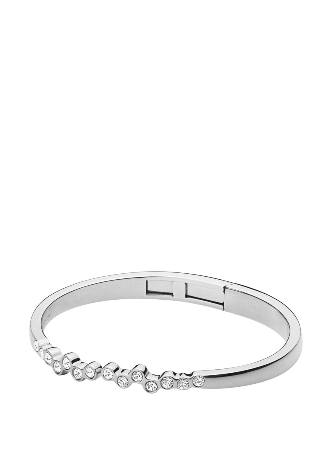 Dyrberg Kern Rosa Crystal Bangle, Silver