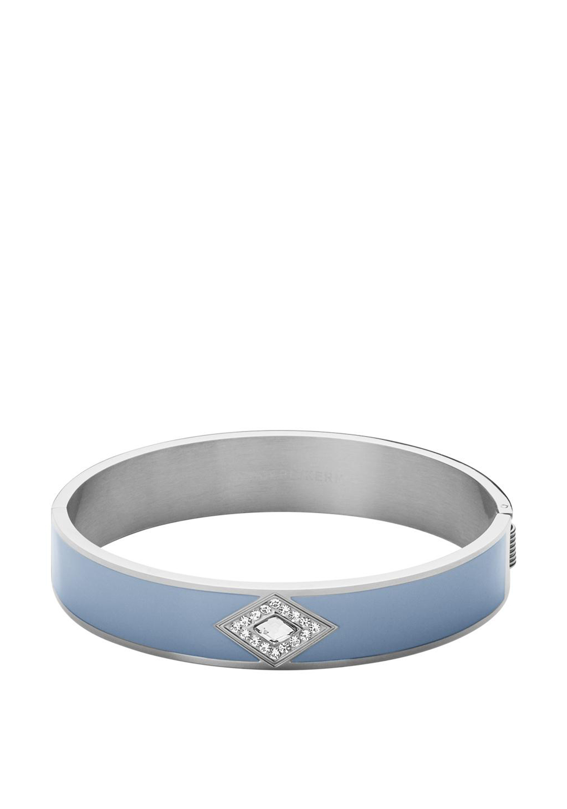 Dyrberg Kern Violeta || Silver Bangle, Light Blue