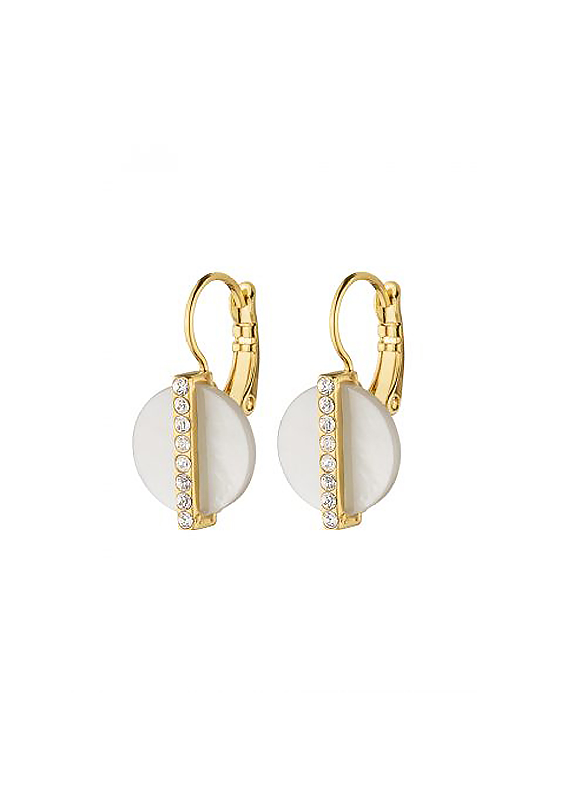 Dyrberg Kern Zante Disc French Hook Earrings, Gold