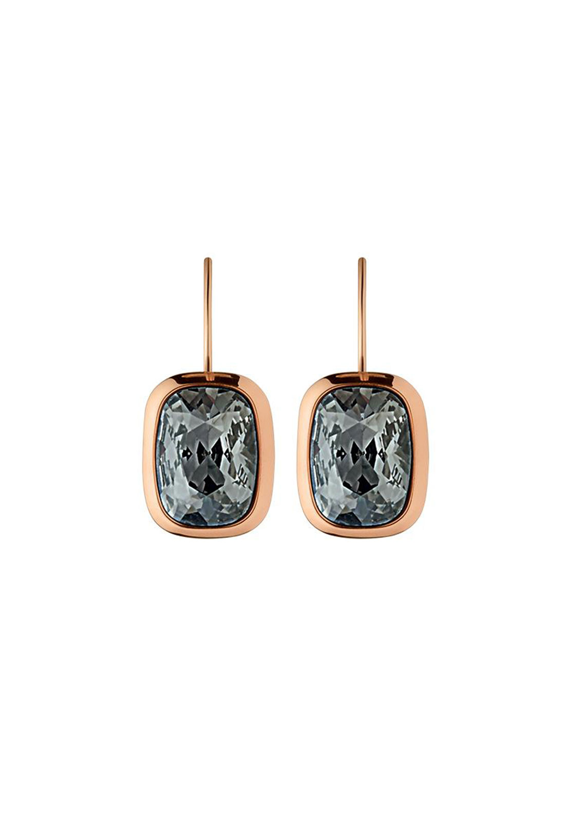 Dyrberg Kern Rina Earrings, Rose Gold & Grey