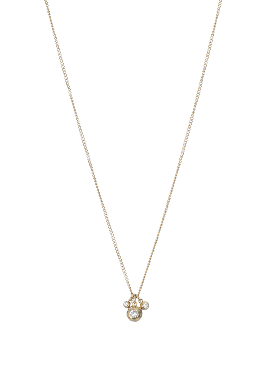 Dyrberg Kern Izanami Crystal Necklace Gold