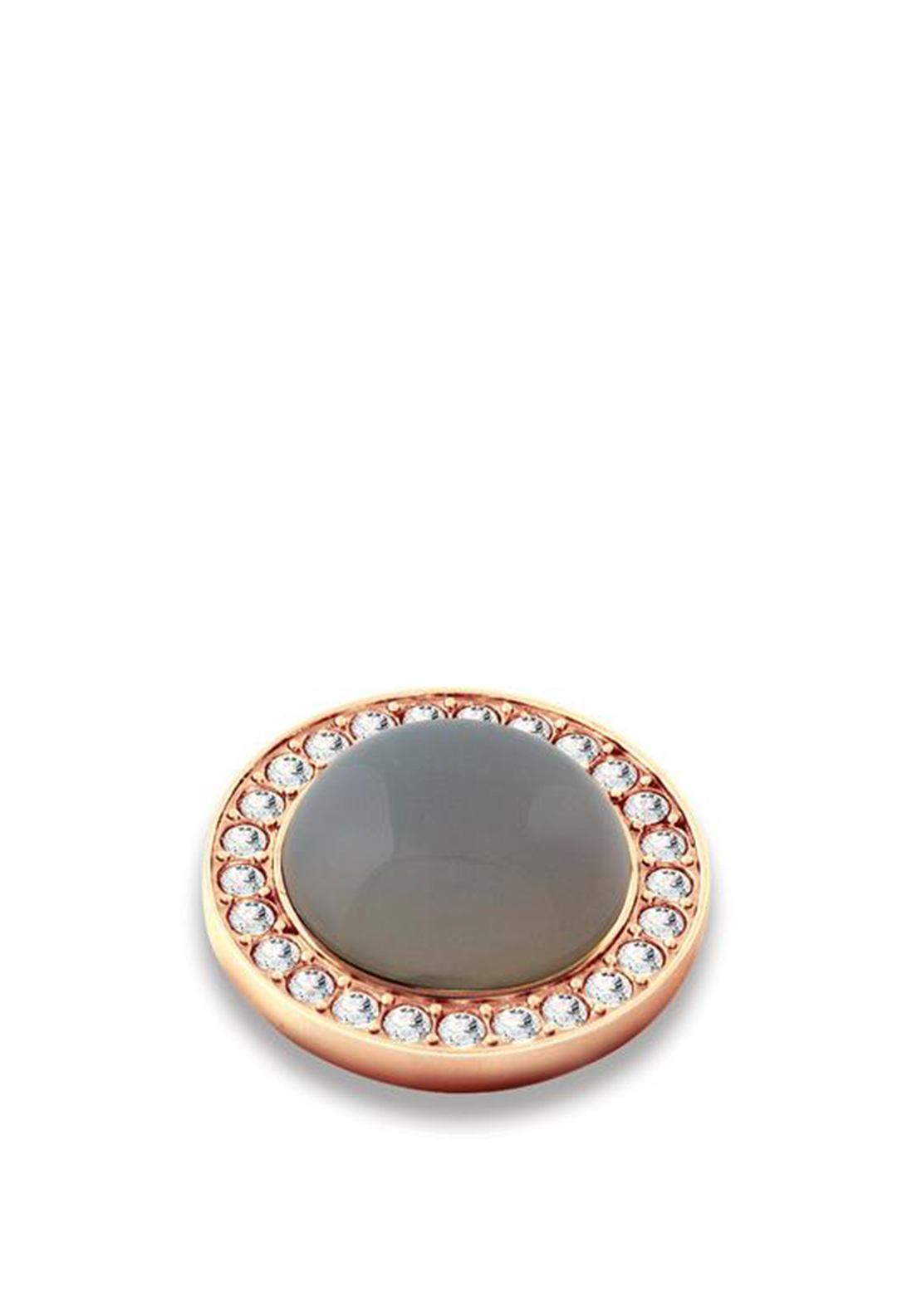 Dyrberg Kern Compliments Focus Rose Gold Ring Topper, Grey