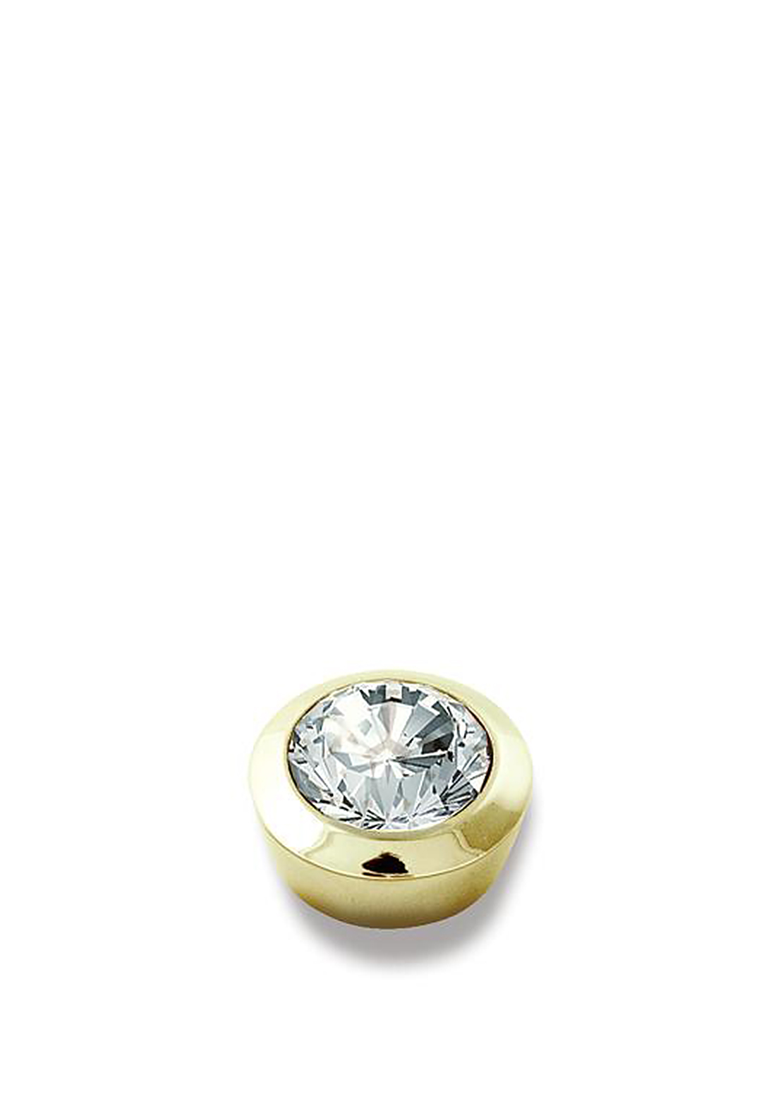 Dyrberg Kern Compliments Strength Gold Ring Topper, Clear Crystal