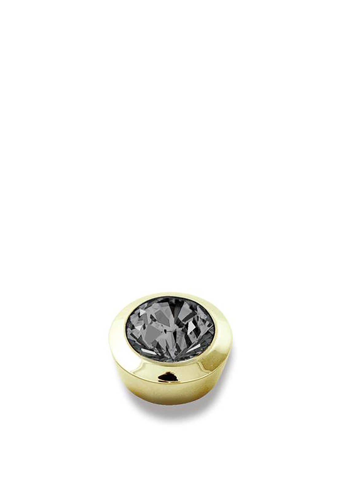 Dyrberg Kern Compliments Strength Gold Ring Topper, Green Grey