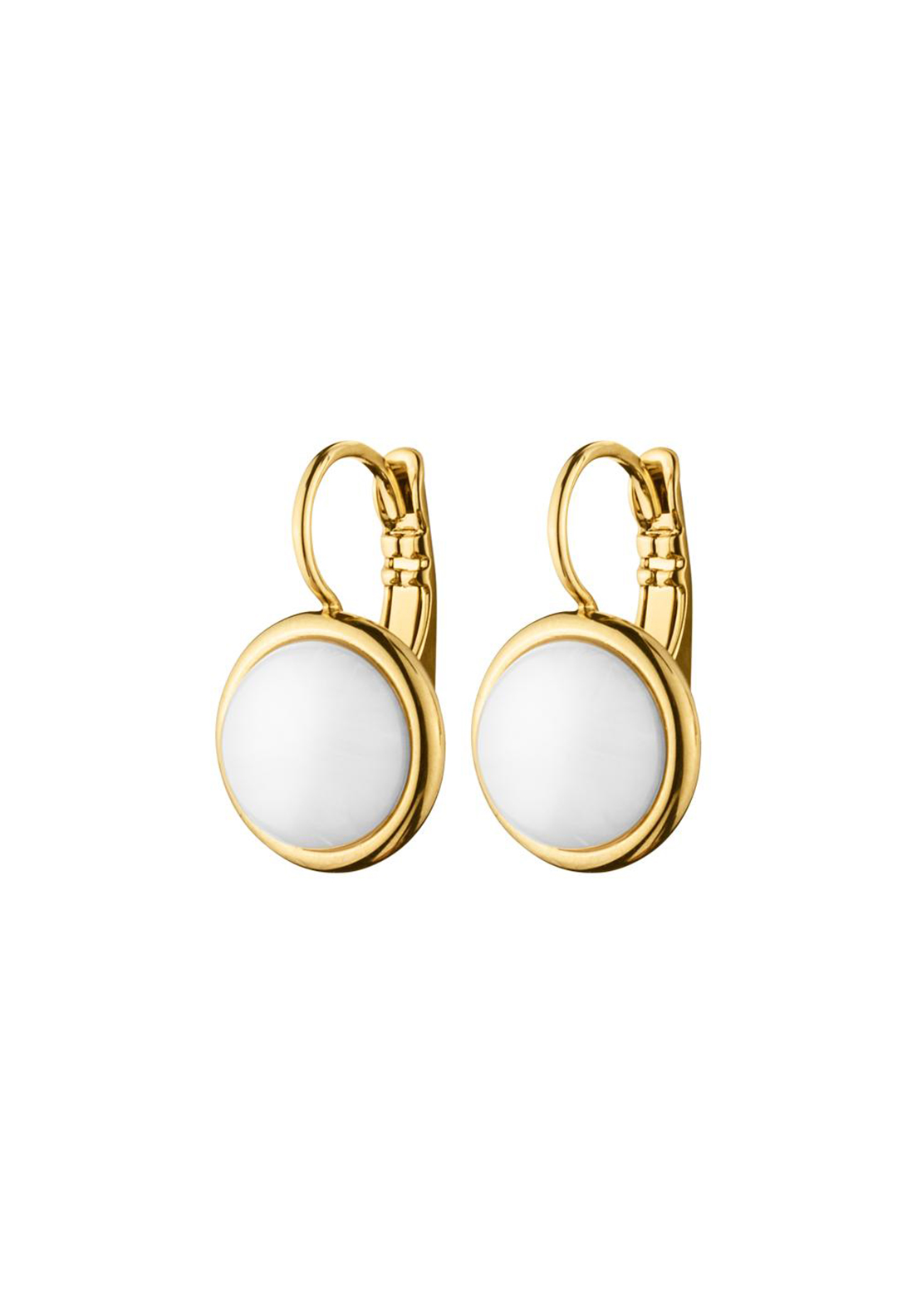 Dyrberg Kern Poala French Hook Earrings, Gold and White