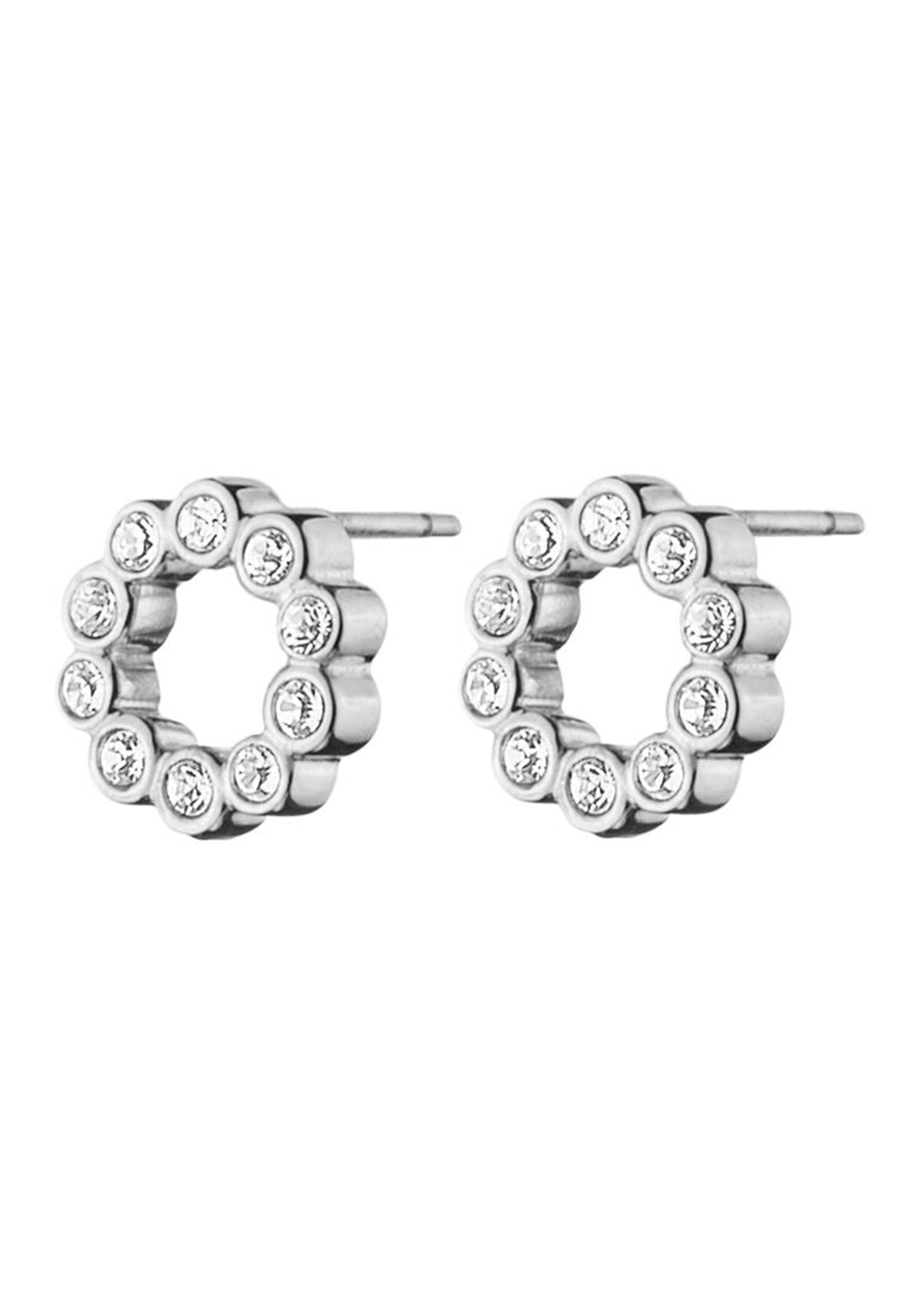 Dyrberg Kern Sally Crystal Stud Earrings, Silver