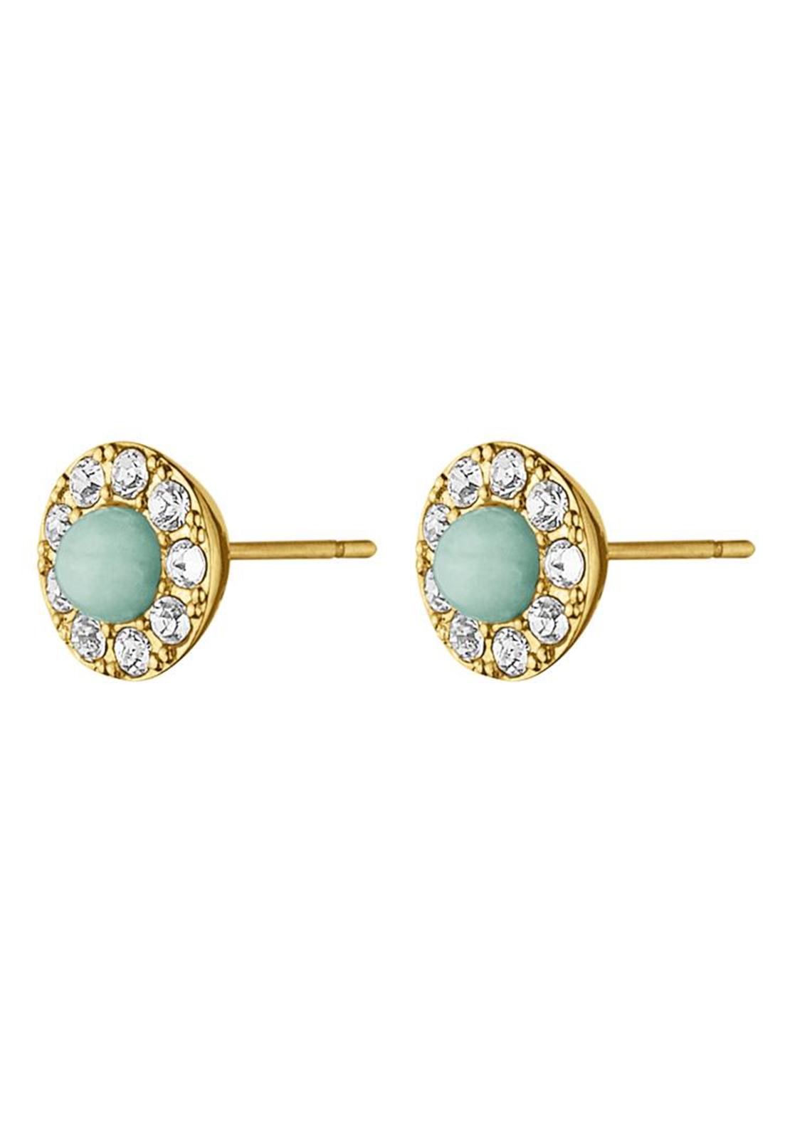 Dyrberg Kern Alto Gemstone Stud Earrings, Gold