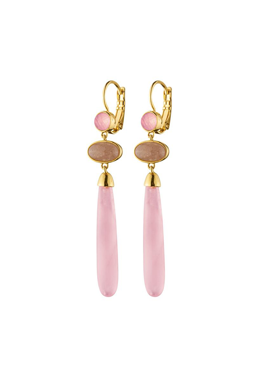 Dyrberg Kern Lindsey Drop Earrings, Rose Pink