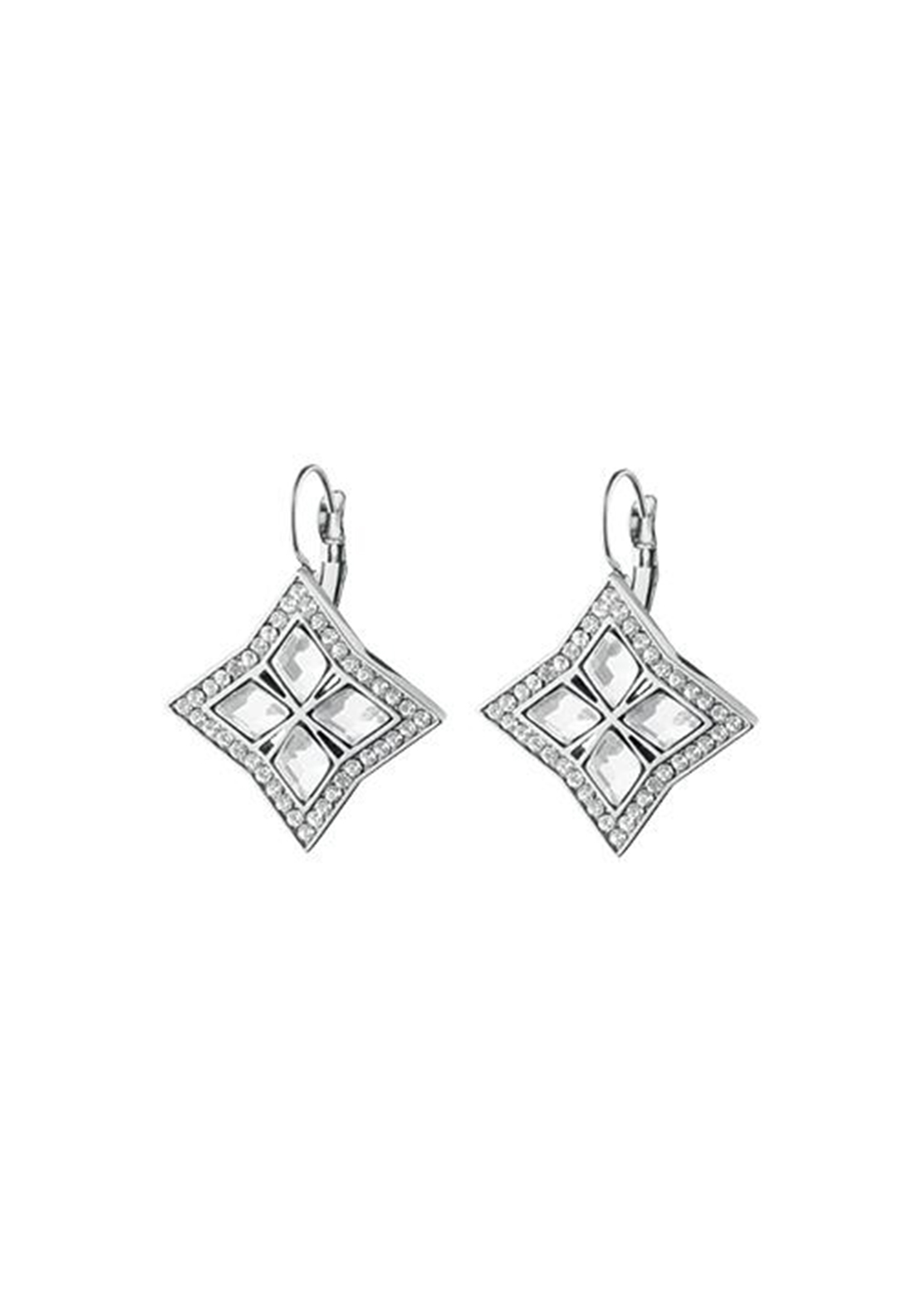 Dyrberg Kern Nina Crystal French Hook Earrings, Silver