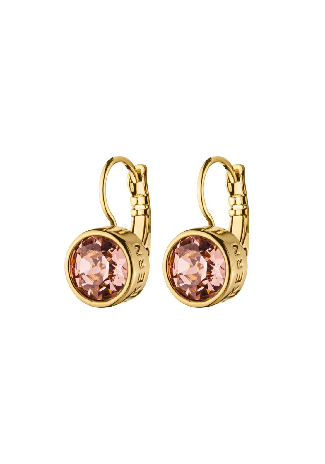 Dyrberg Kern Louise French Hook Earrings, Gold and Rose
