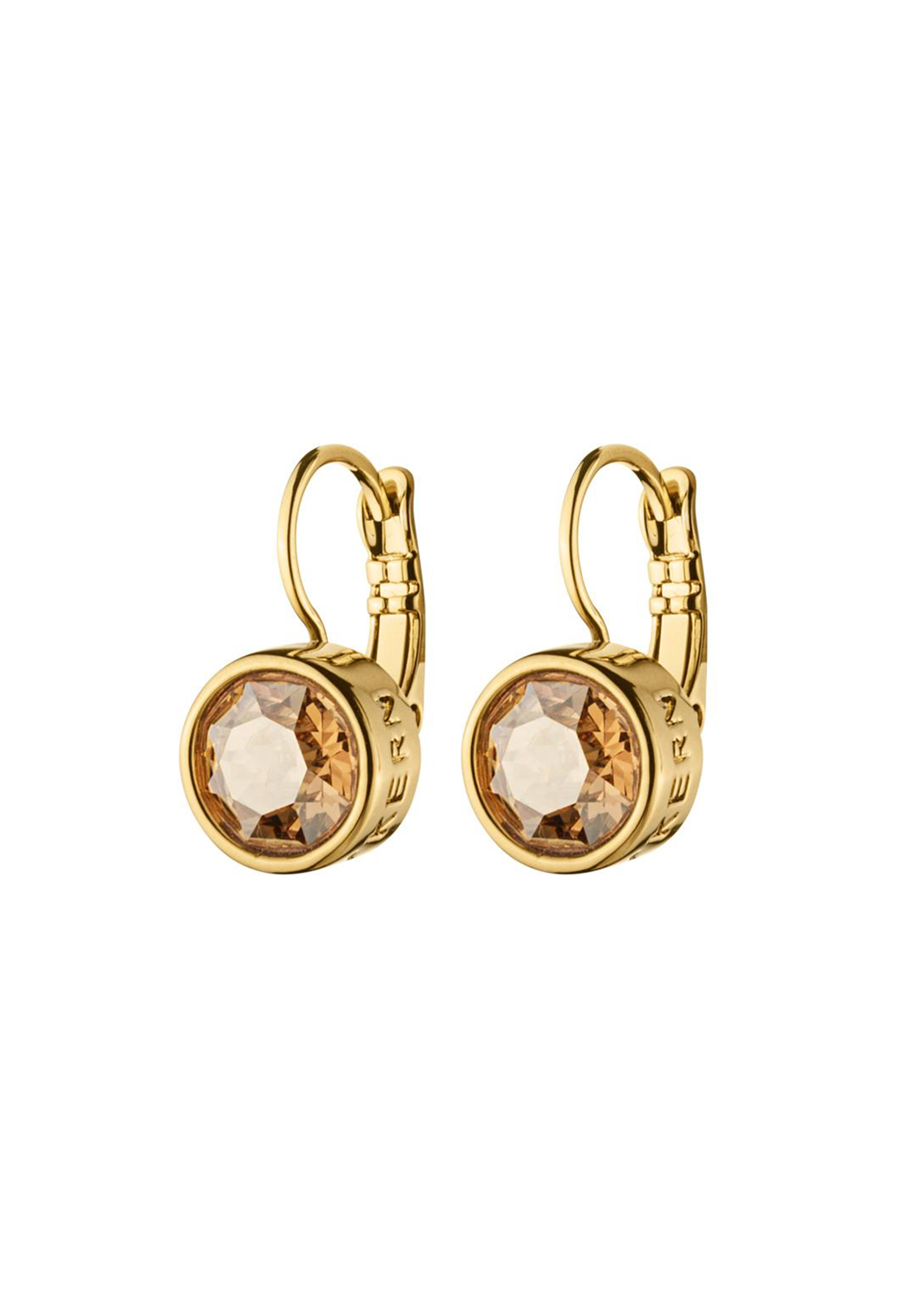 Dyrberg Kern Louise French Hook Earrings, Gold and Sand