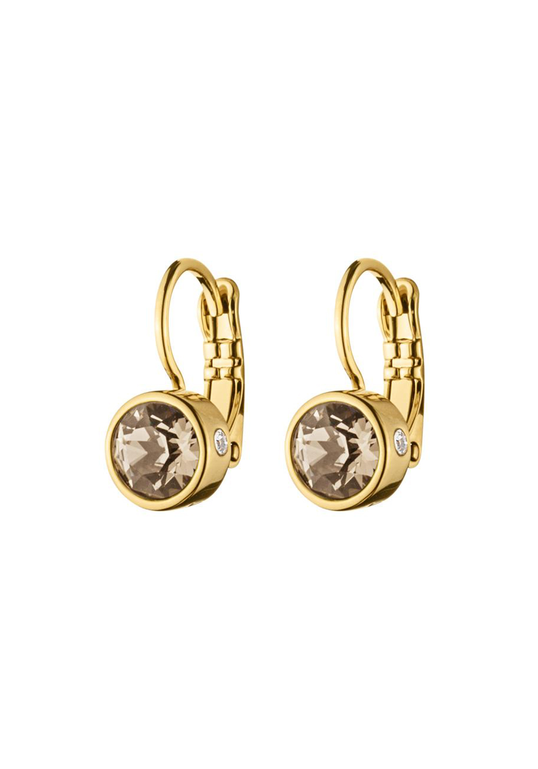 Dyrberg Kern Madu French Hook Earrings, Gold and Sand
