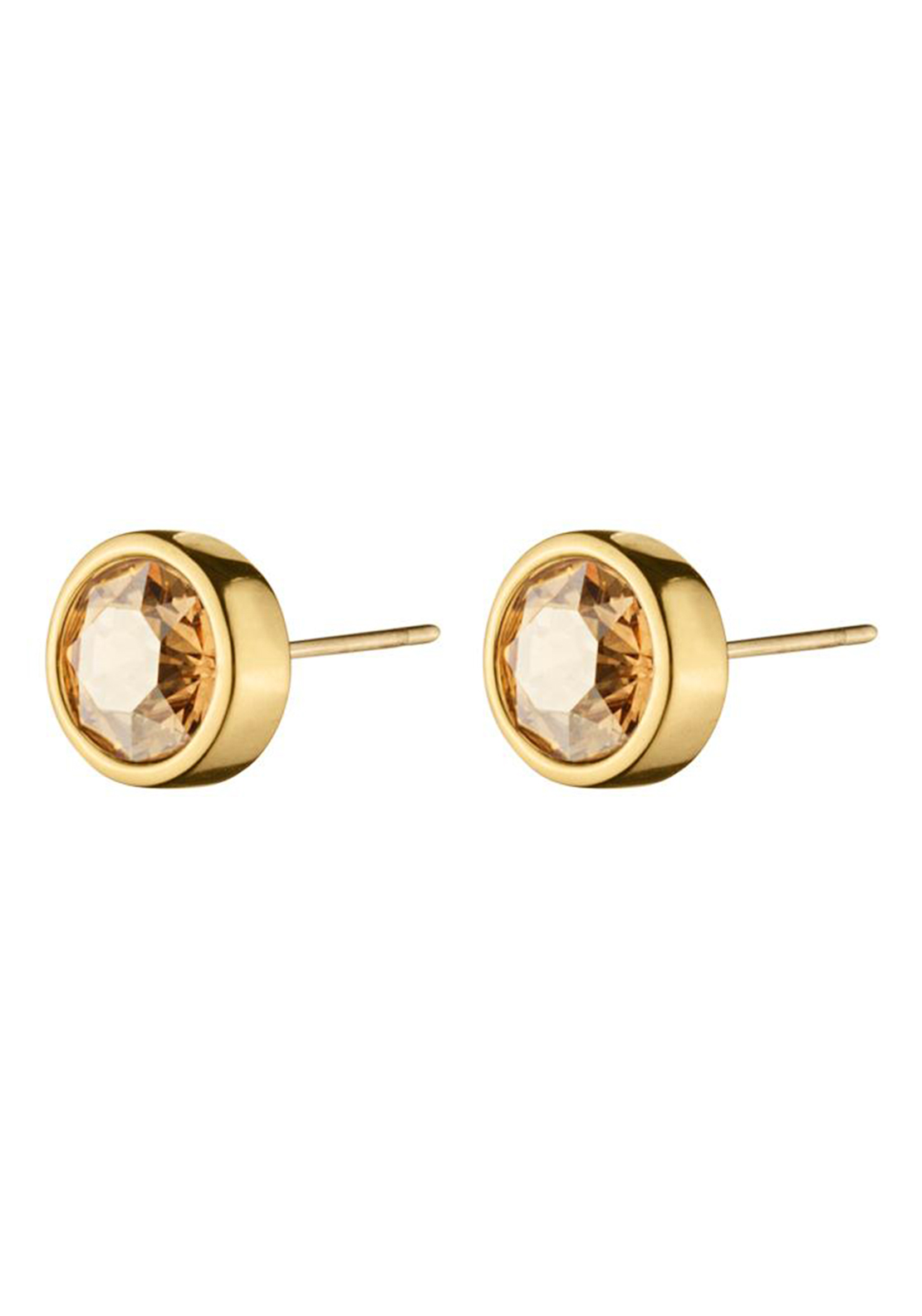 Dyrberg Kern Noble Solitaire Stud Earrings, Gold