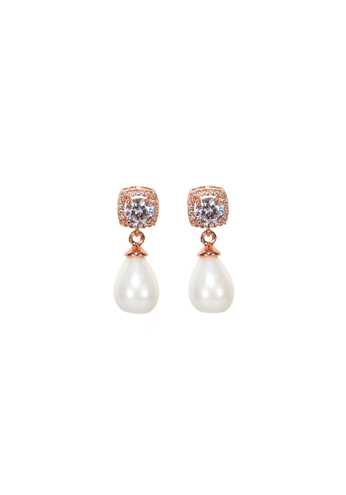 Absolute Jewellery Pearl Drop Earrings