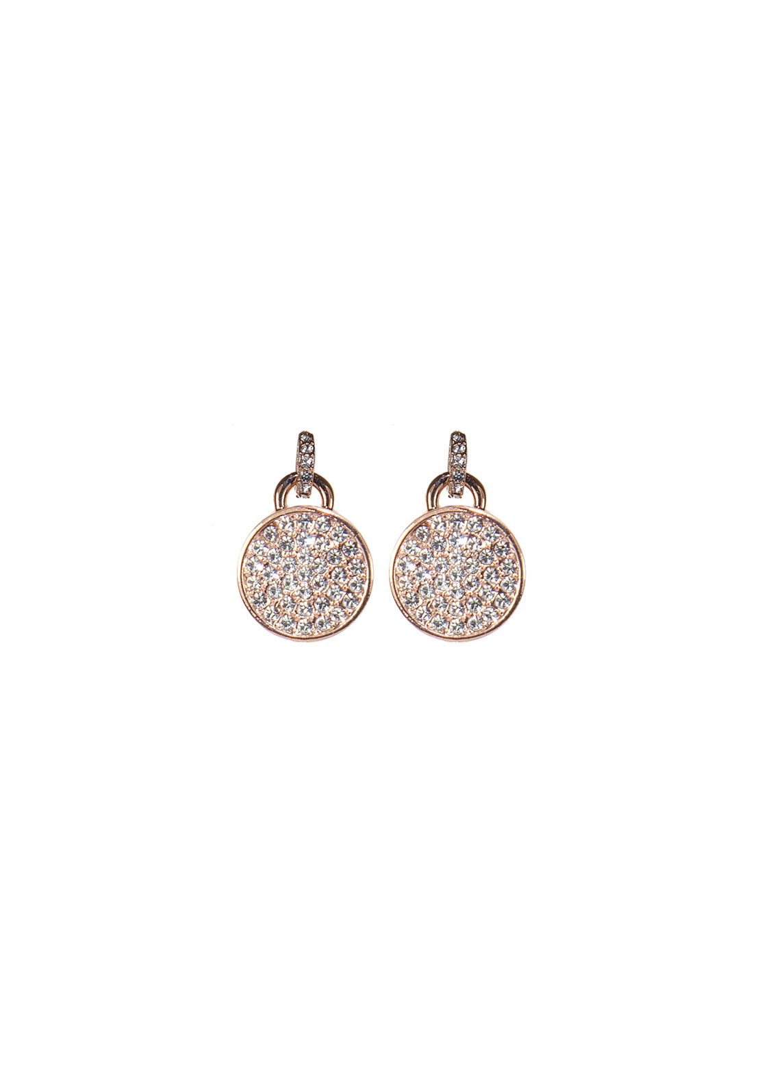 Absolute Jewellery Pave Disc Earrings