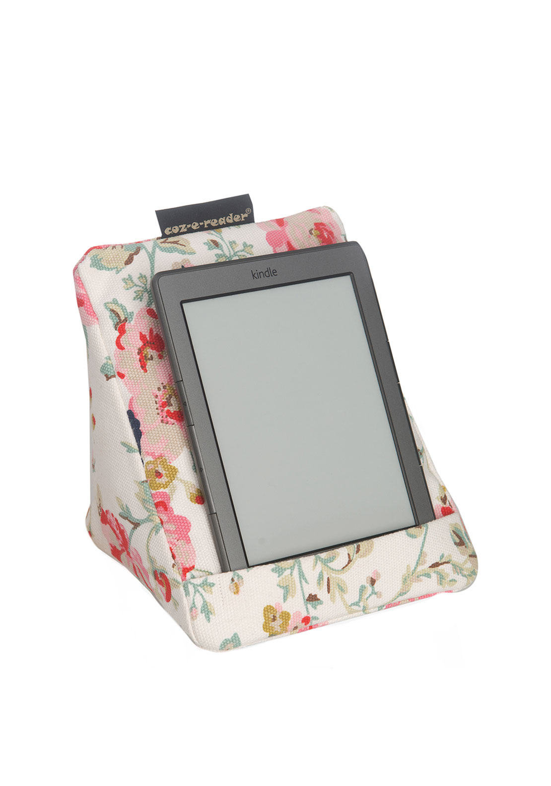 Coz-e-reader floral e-reader Cushion, Cream