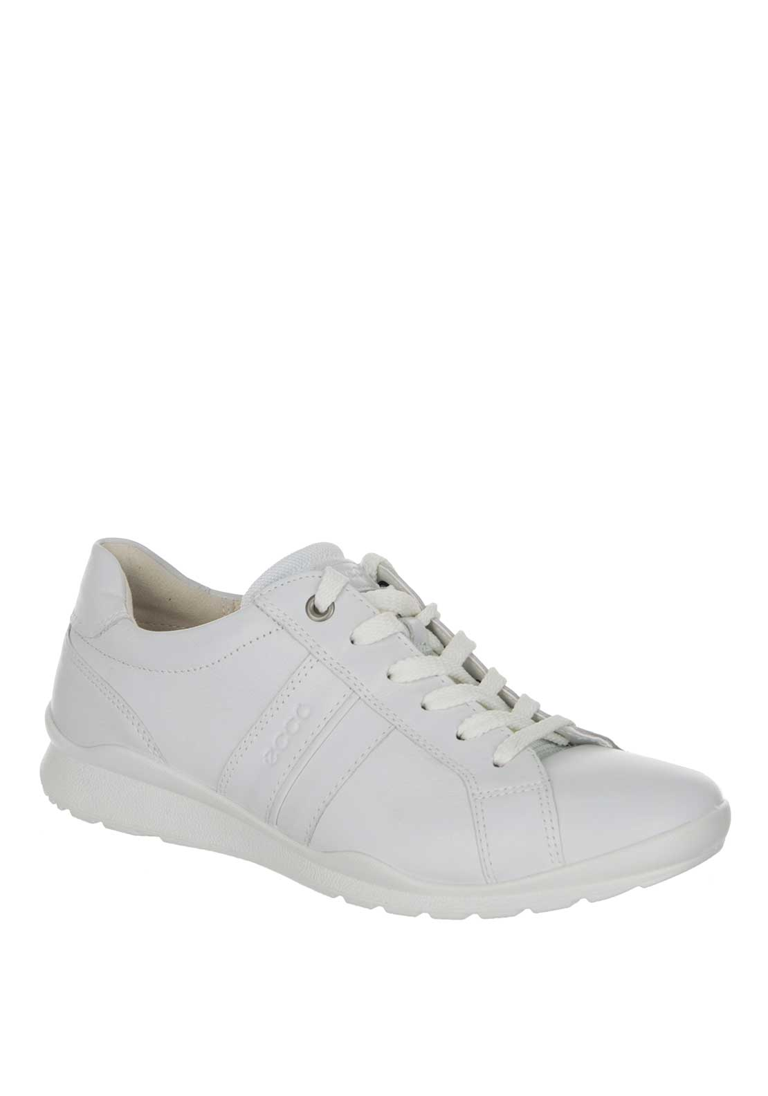 Ecco Women's Leather Comfort Trainer, White