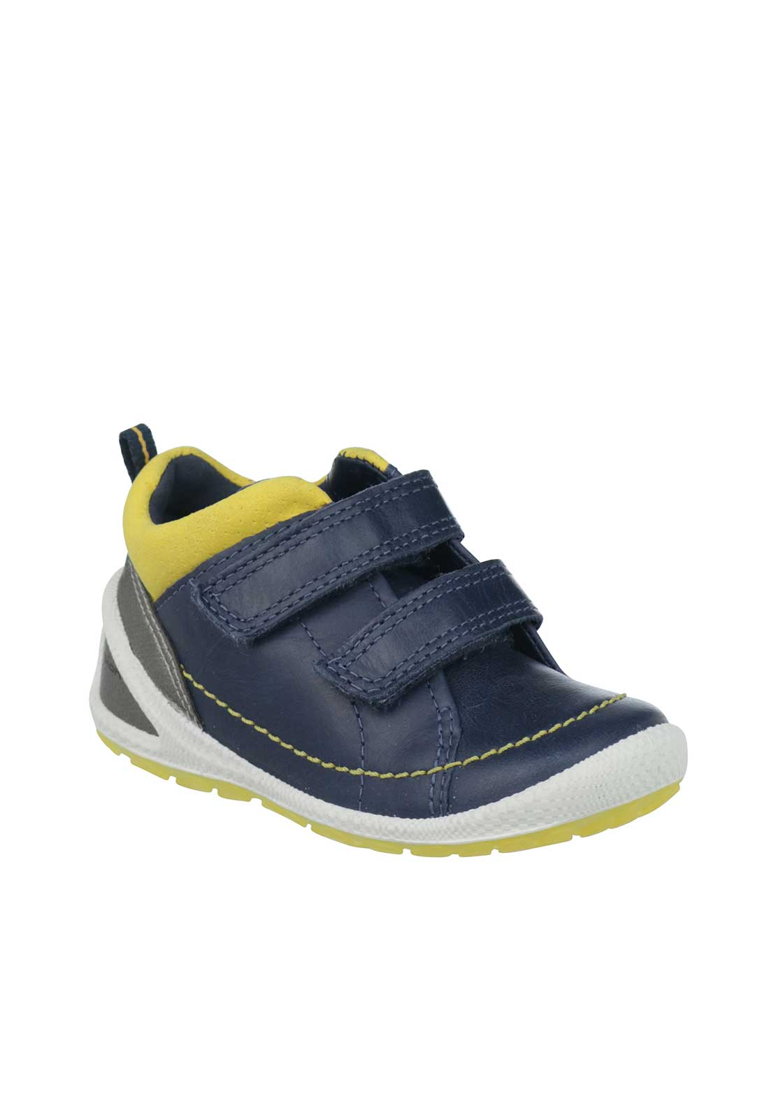 Ecco Baby Boys Leather Velcro Boots, Navy