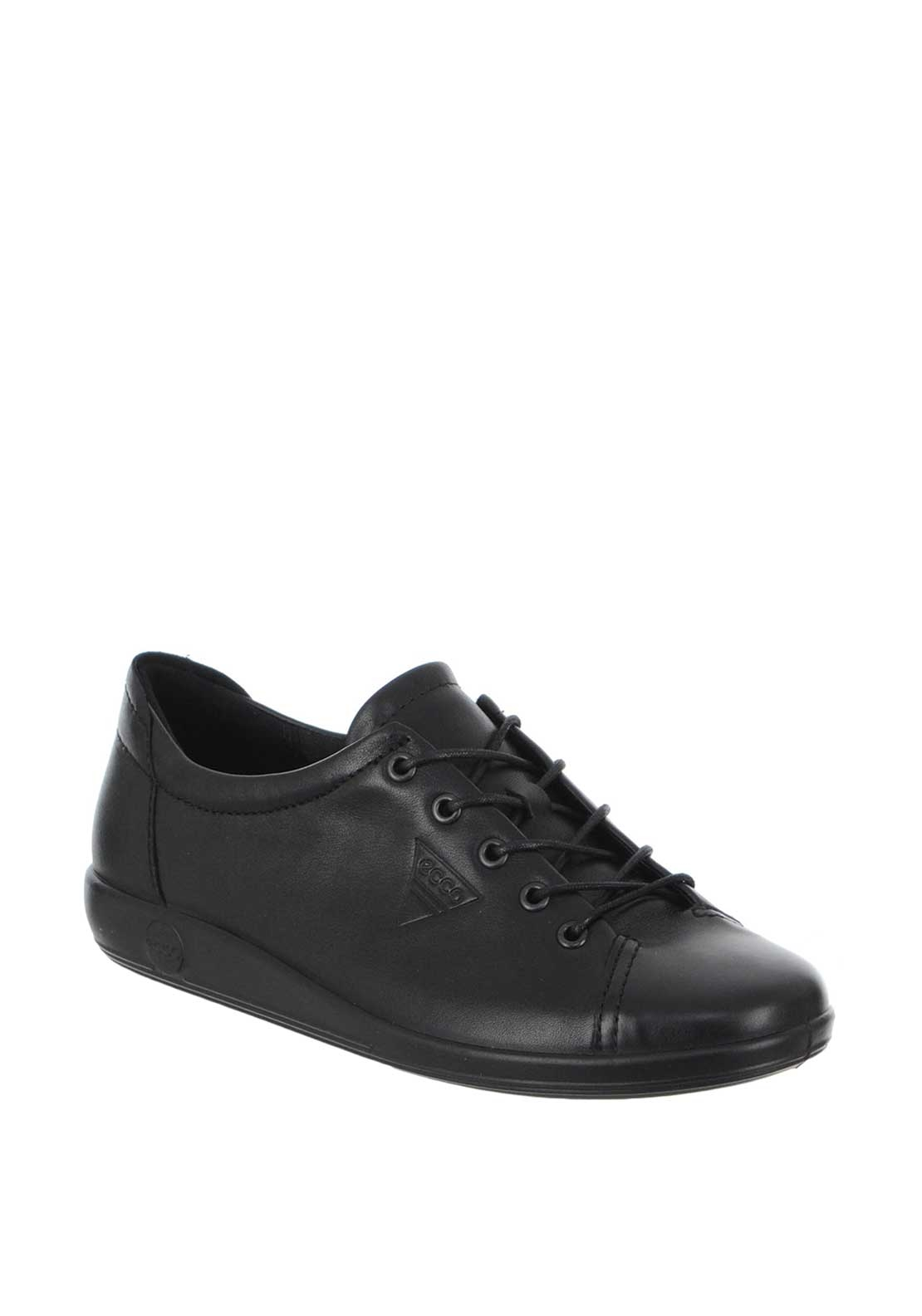 Ecco Women's Patent Leather Comfort Shoe Soft, Black