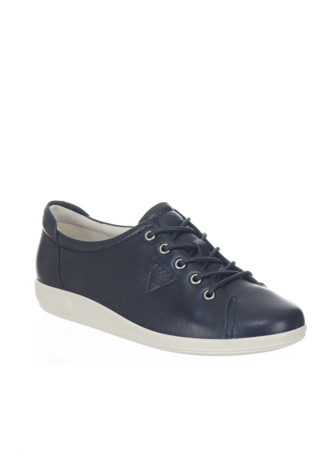 Ecco Womens Leather Trainers, Navy