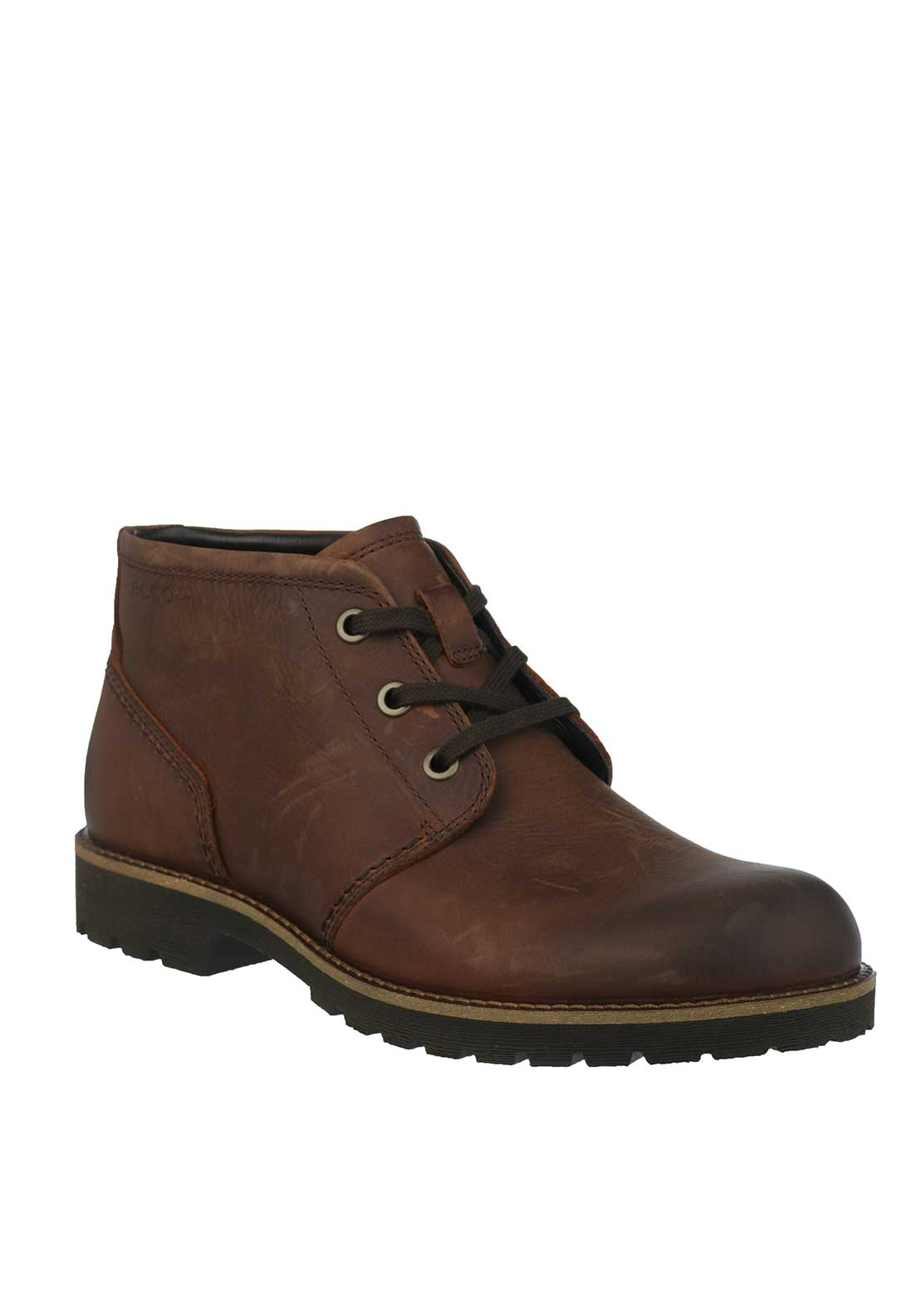 Ecco Mens Jamestown Leather Boots, Brown
