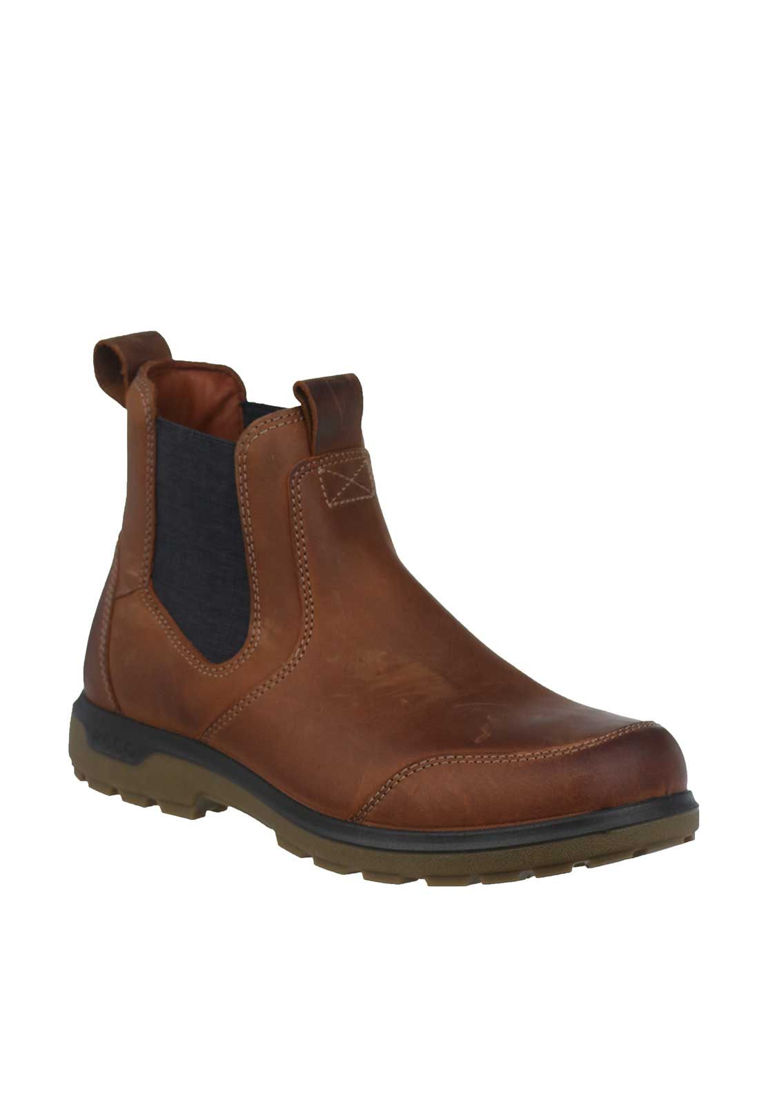 Ecco Mens Leather Chelsea Boots, Tan