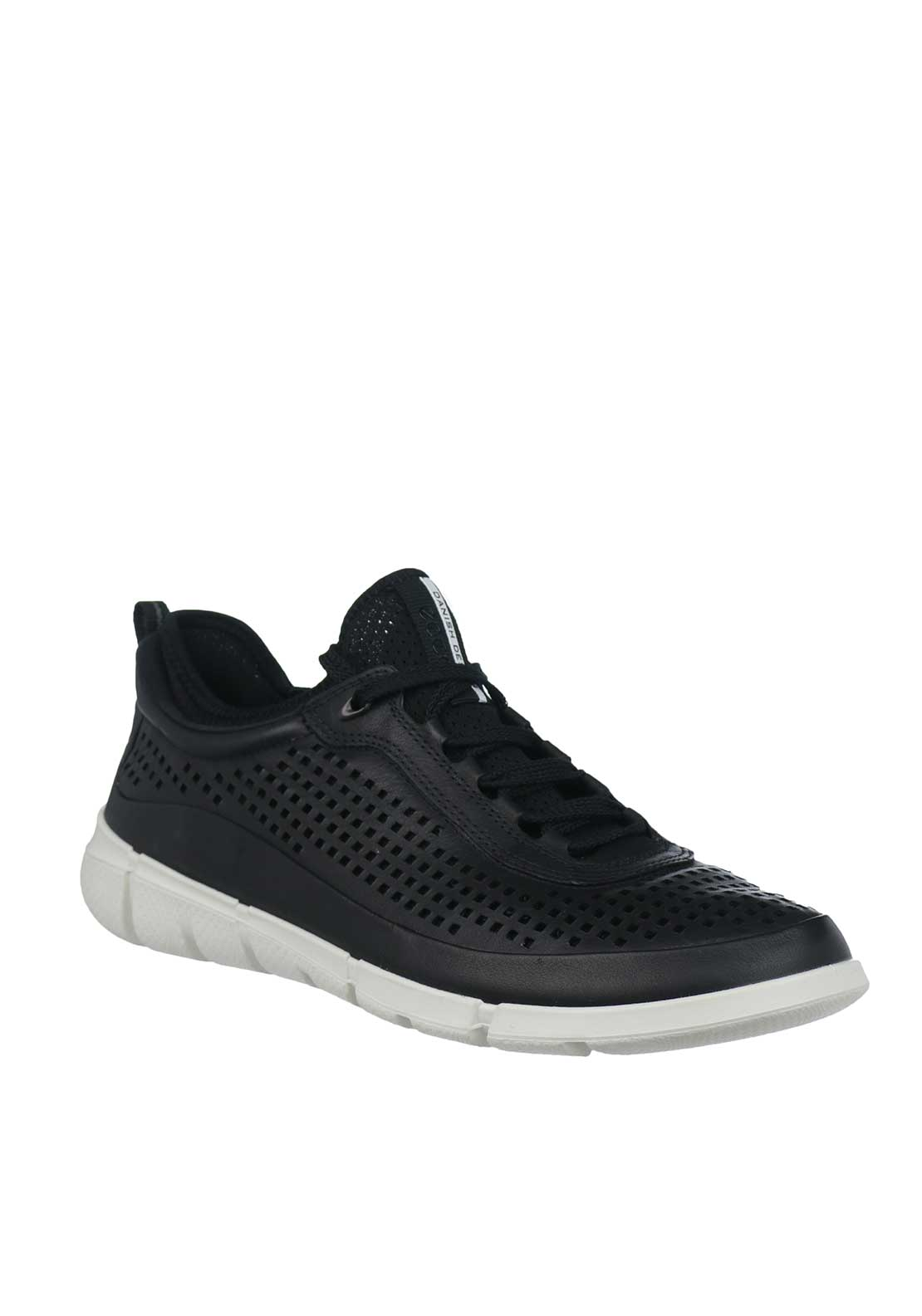 Ecco Mens Intrinsic Leather Trainers, Black