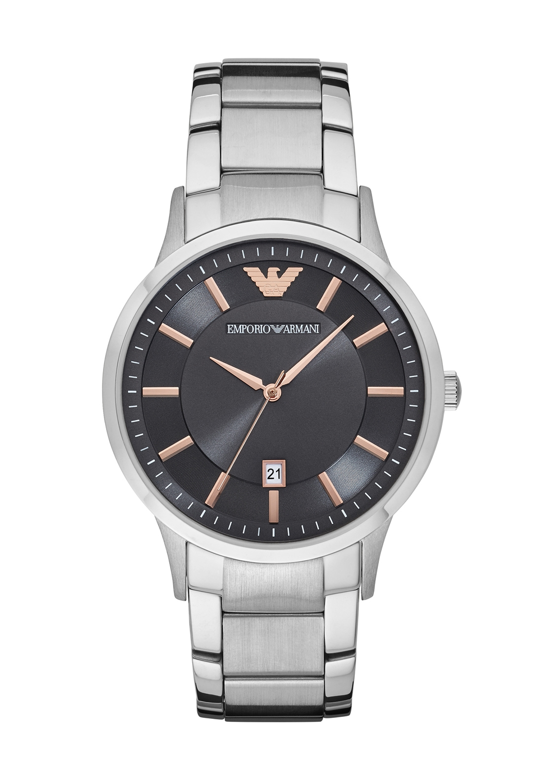 Emporio Armani Black and Rose Gold Dial