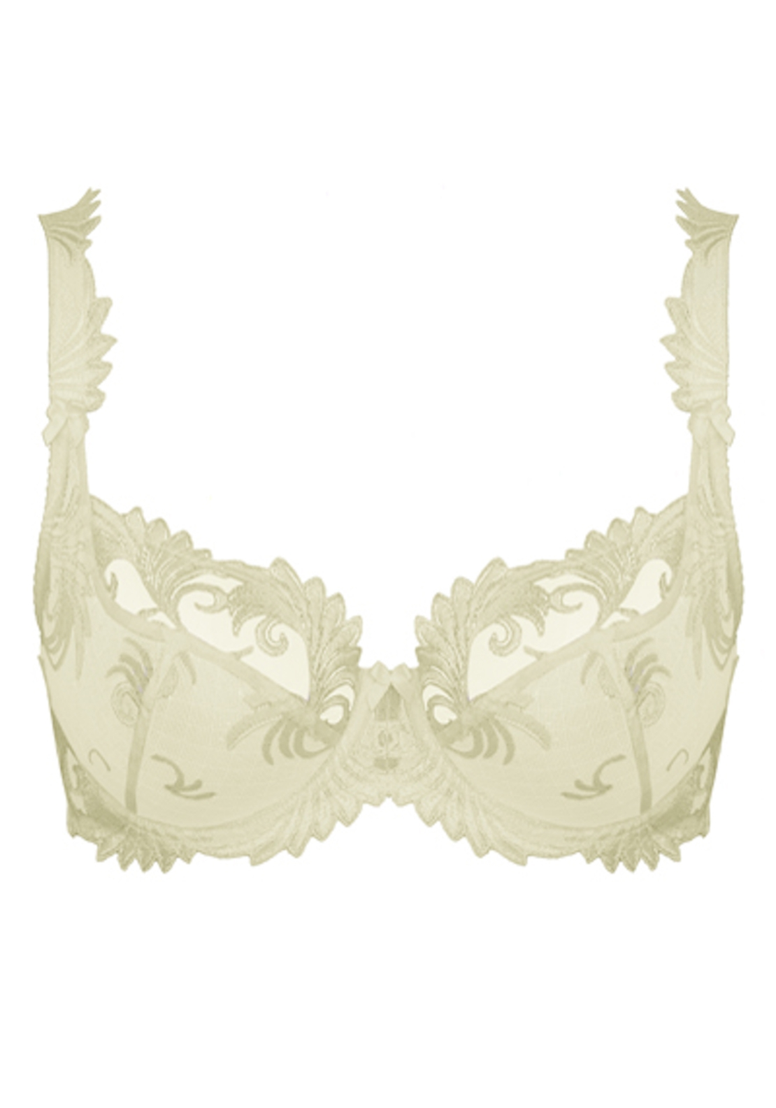 Empreinte Thalia Embroidered Lace Underwired Bra, Cream